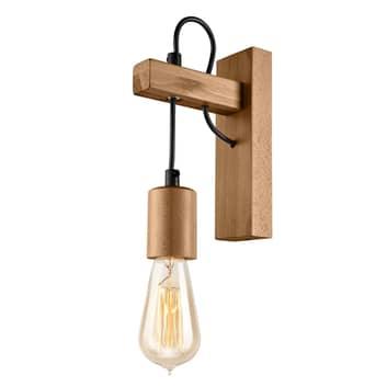 Lámpara de pared Tyske de madera, oliva