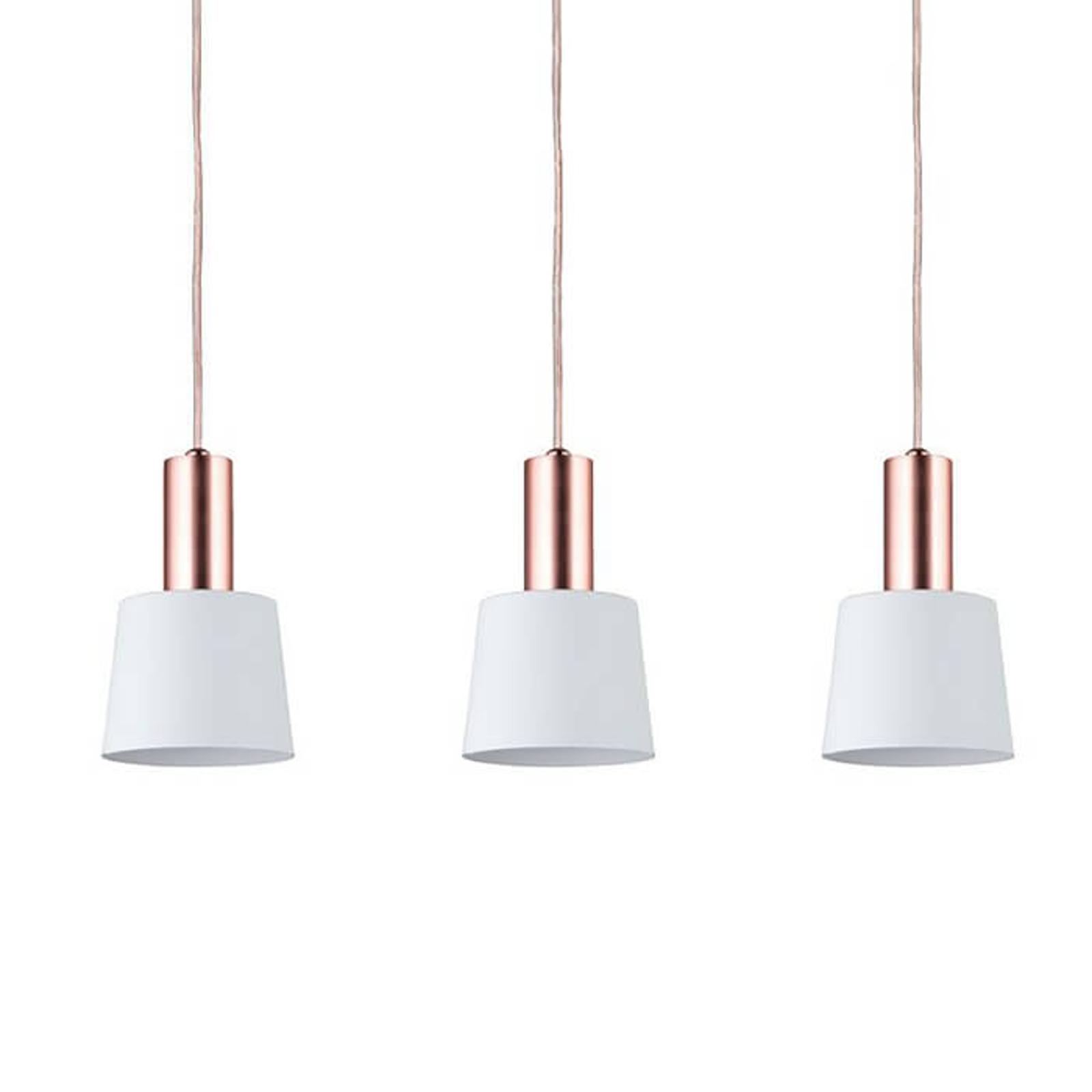 Przepiękna lampa wisząca Haldar 3-punktowa