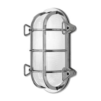 Vägglampa Tortuga 200.21, oval, nickel/opal