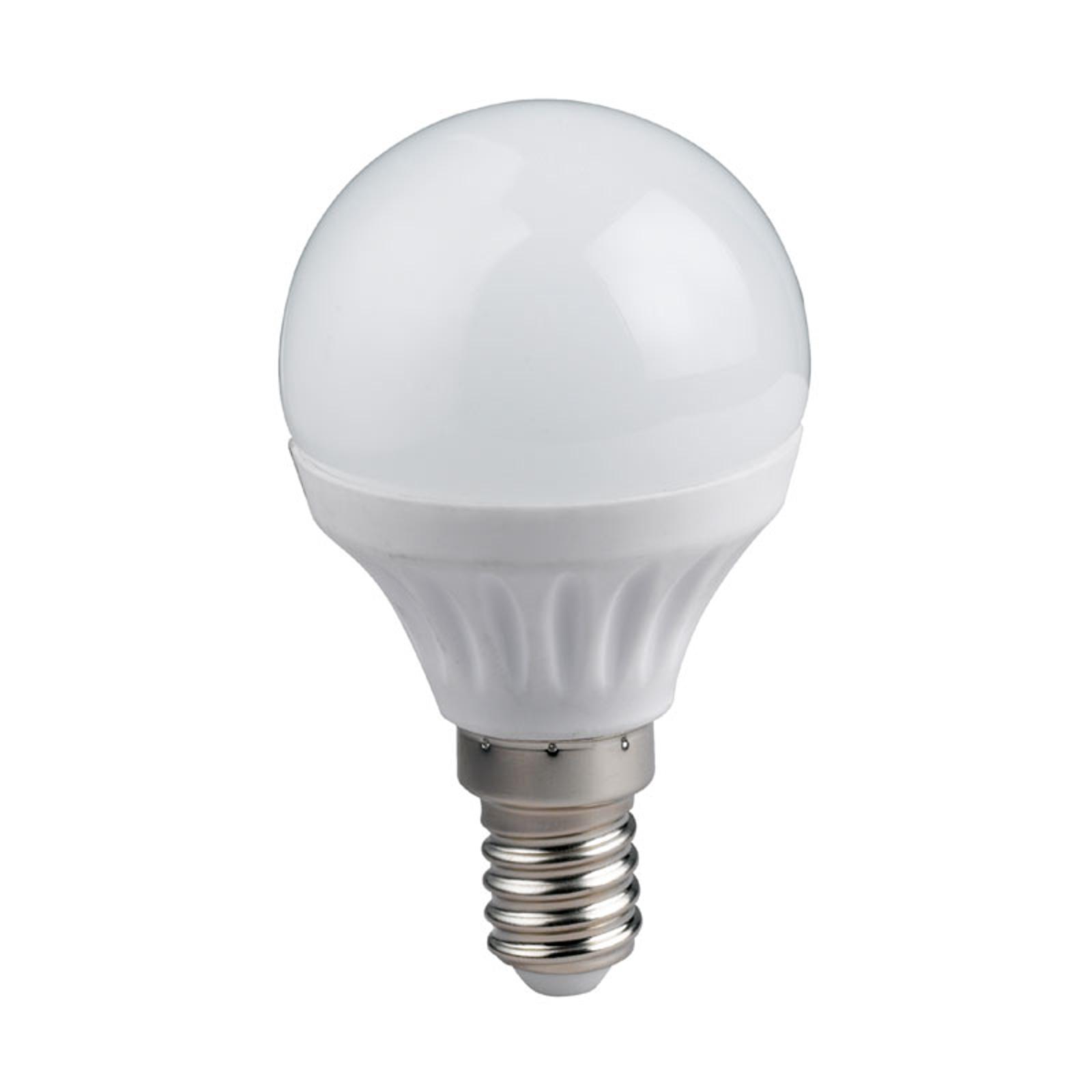 Ampoule goutte E14 4 W LED, blanc chaud