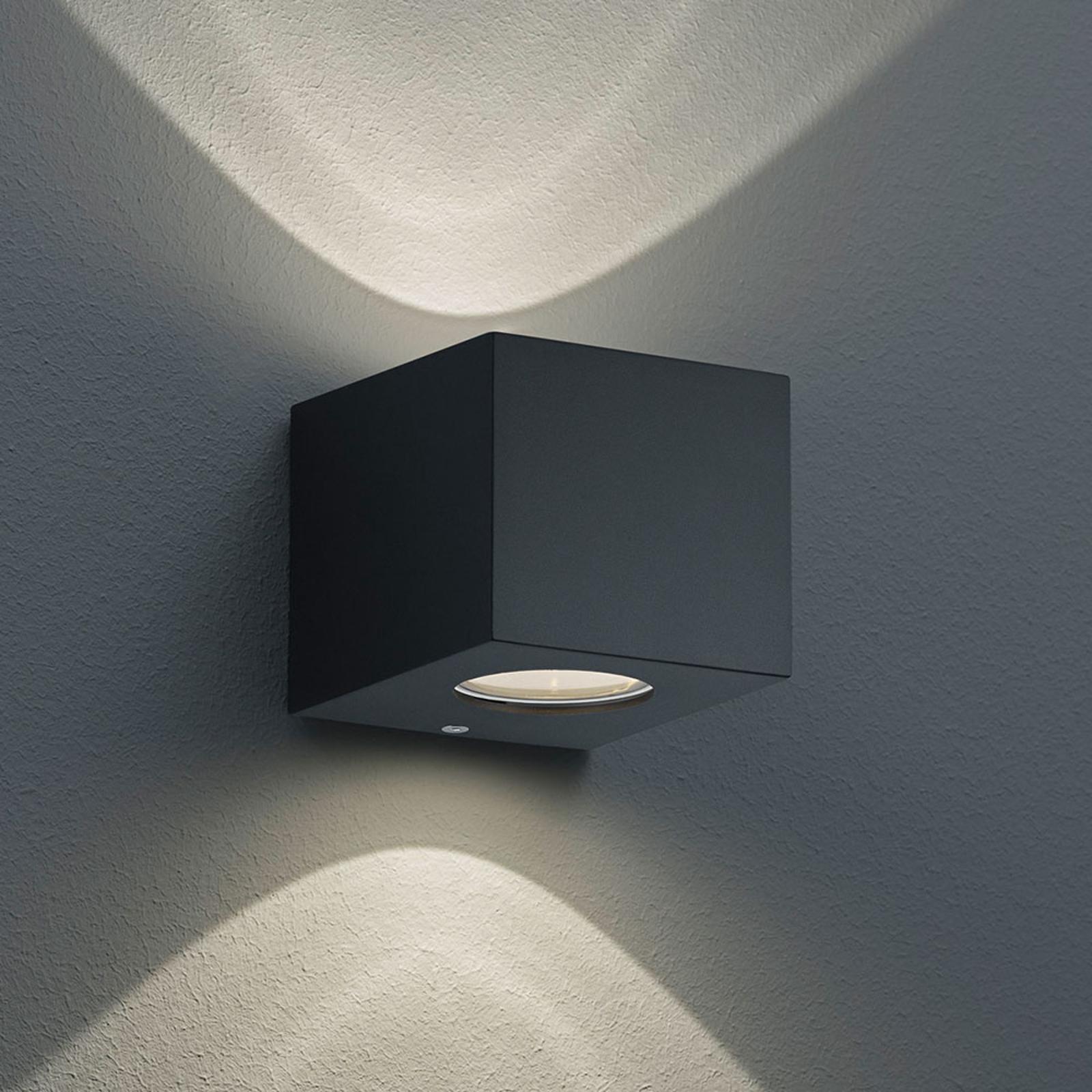 Eckige LED-Außenwandleuchte Cordoba, schwarz