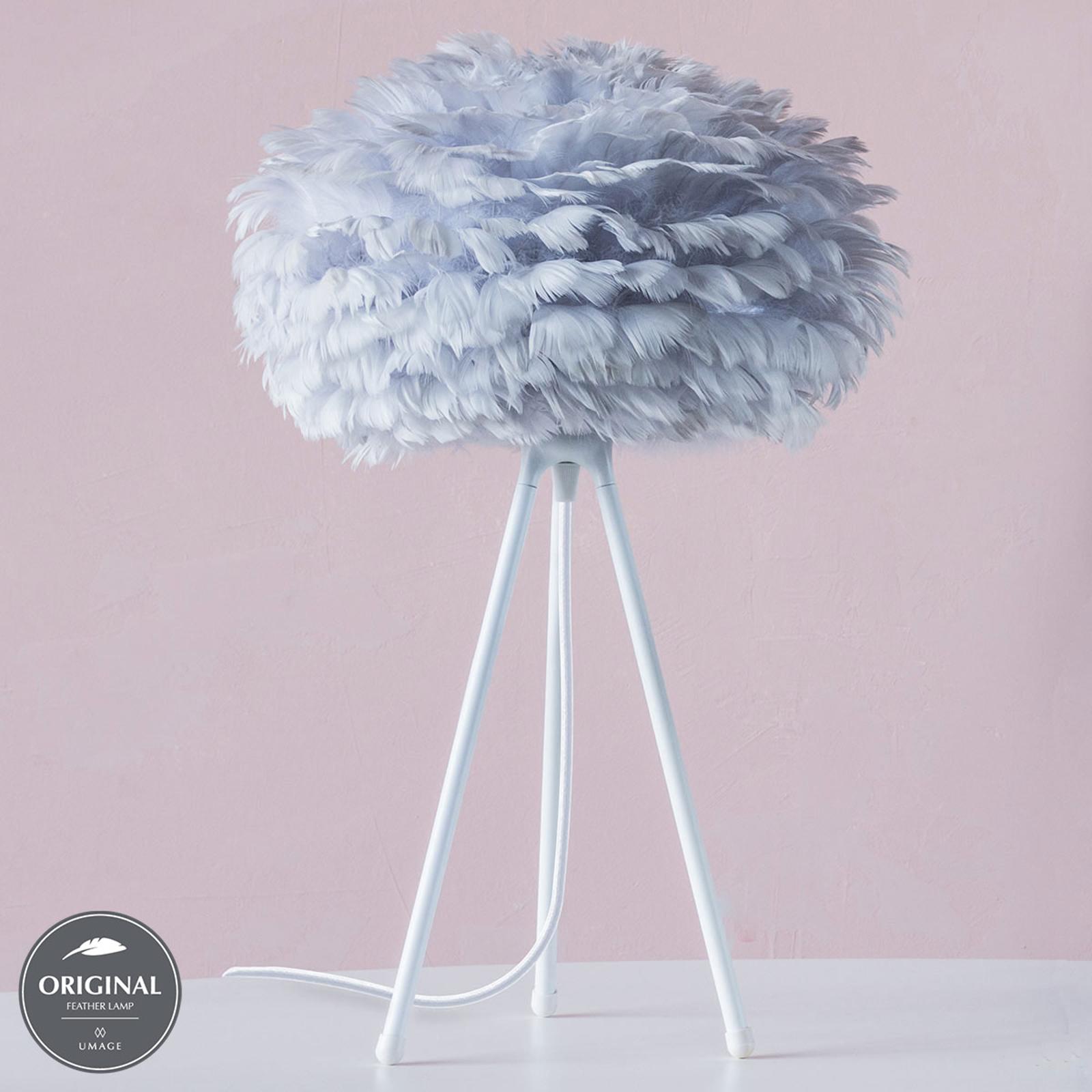 UMAGE Eos mini bordlampe, grå fjer