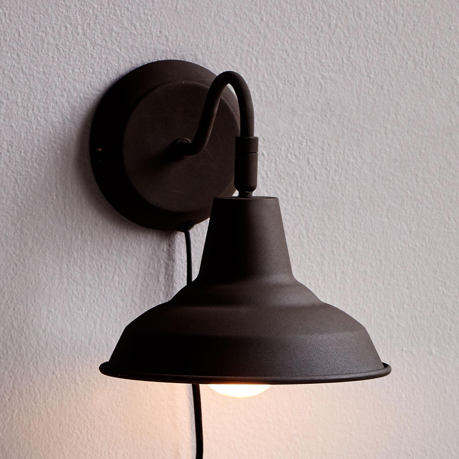 Wandlamp Andy in roest met kabel en stekker