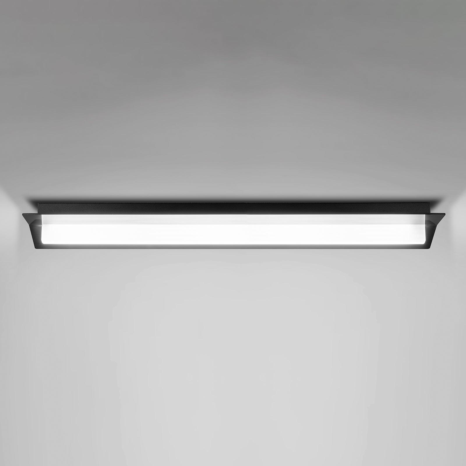 LED-Deckenleuchte Flurry, 70 cm, schwarz