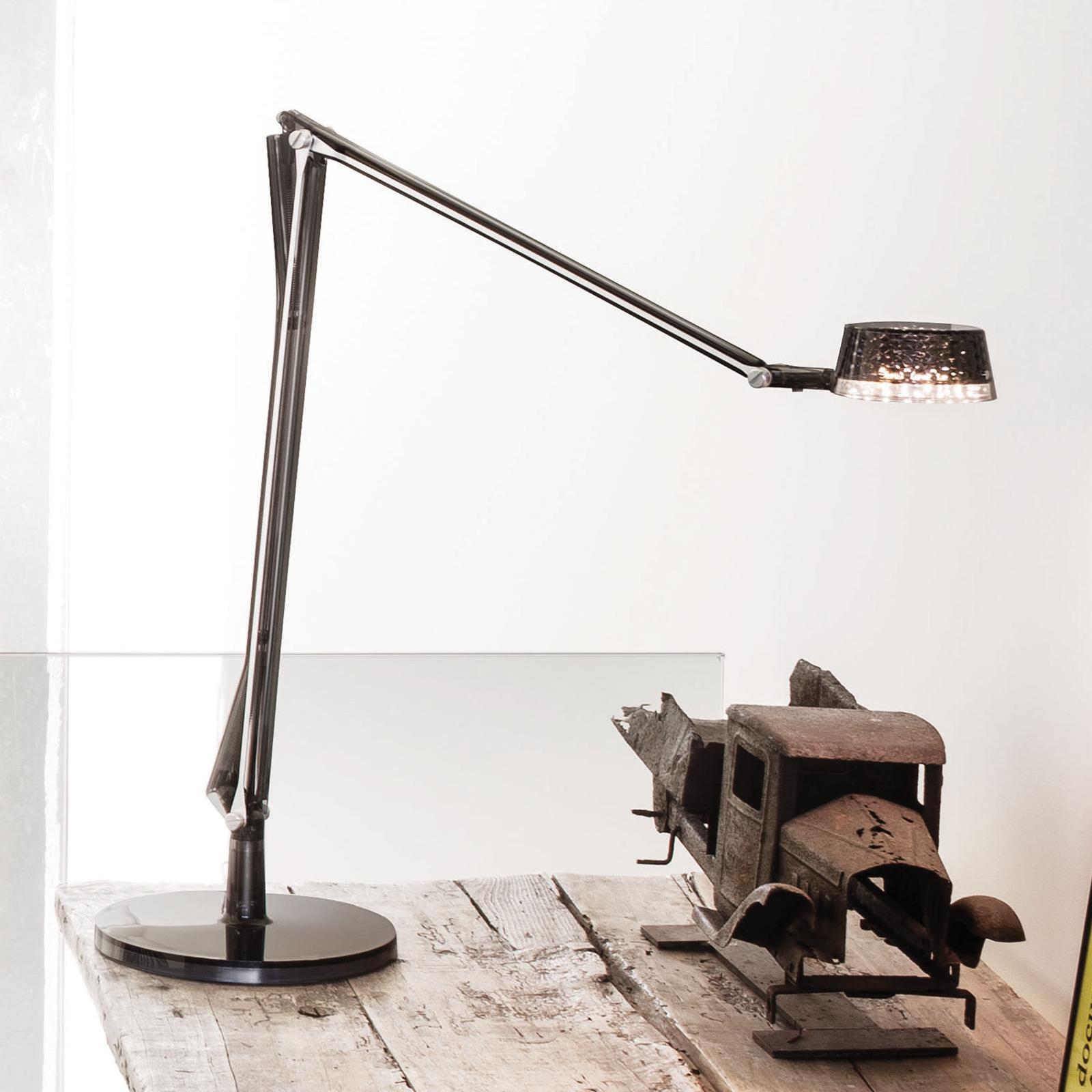 Justerbar LED-bordslampa Aledin Dec, rökgrå