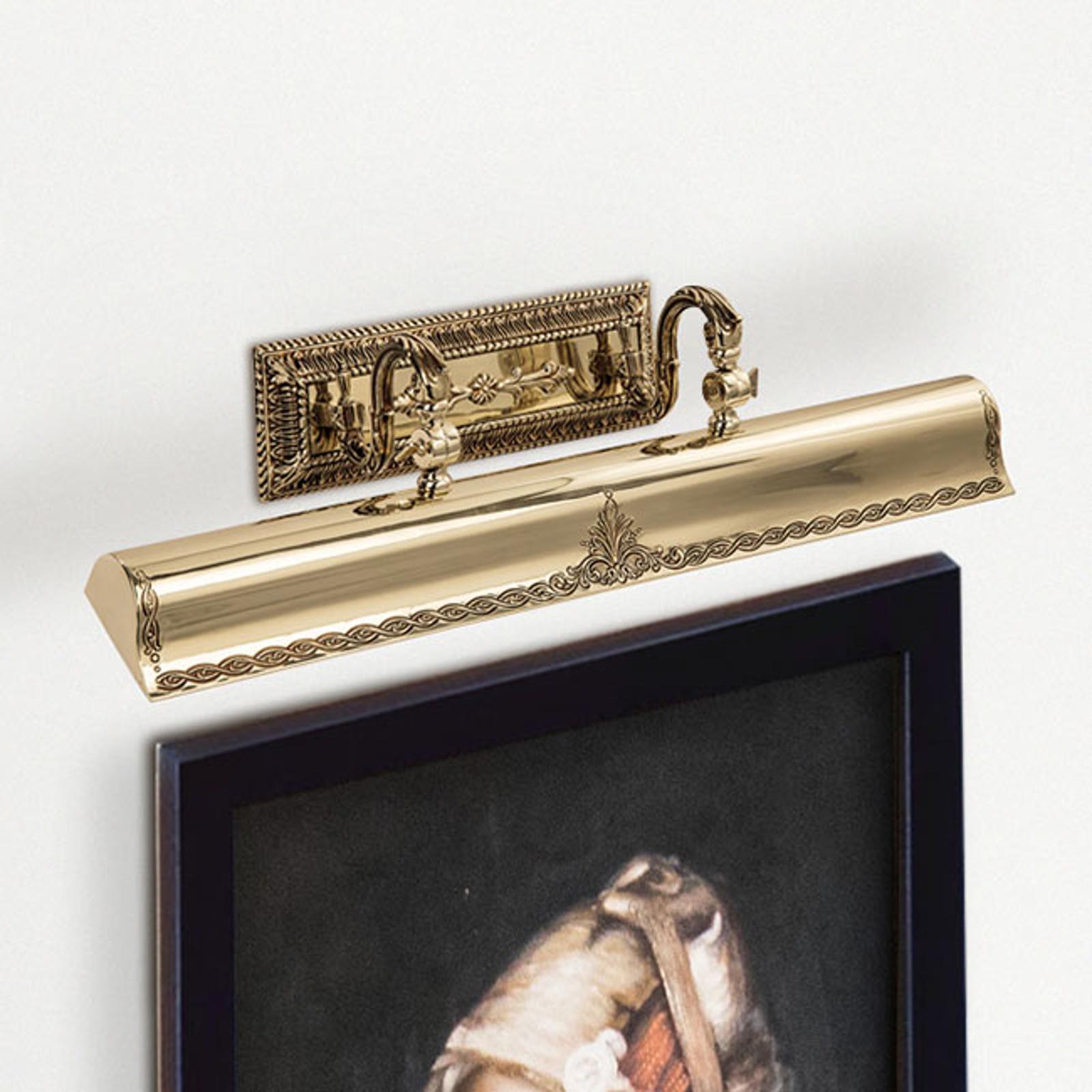 Oświetlenie obrazów Capitel złoto patynowane, 60cm
