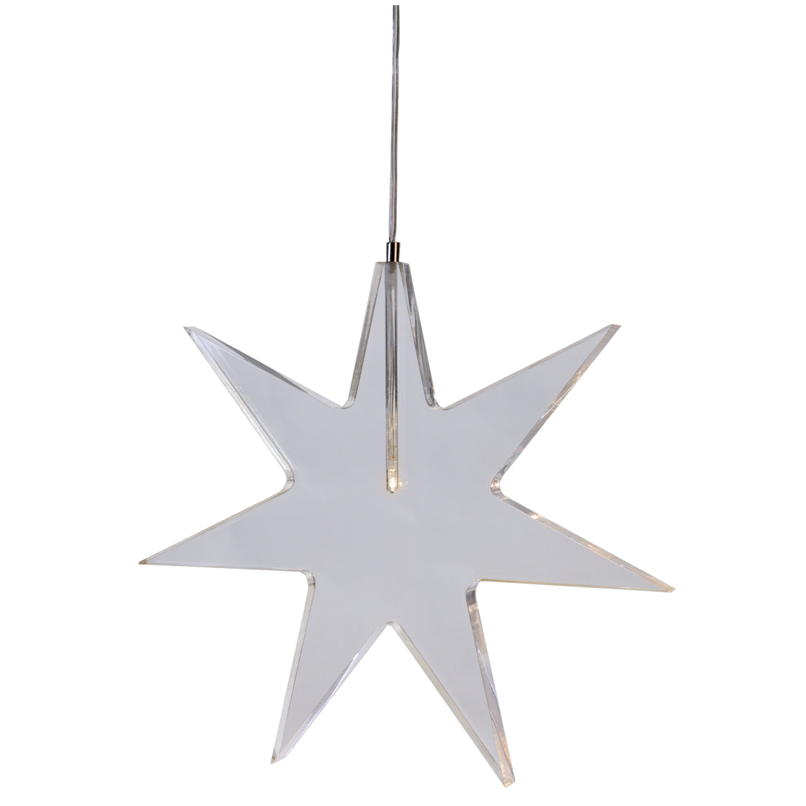 Karla-LED-koristetähti - läpinäkyvä