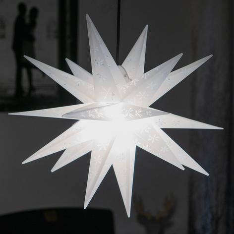 Estrella copo de nieve exterior, 18 puntas impresa
