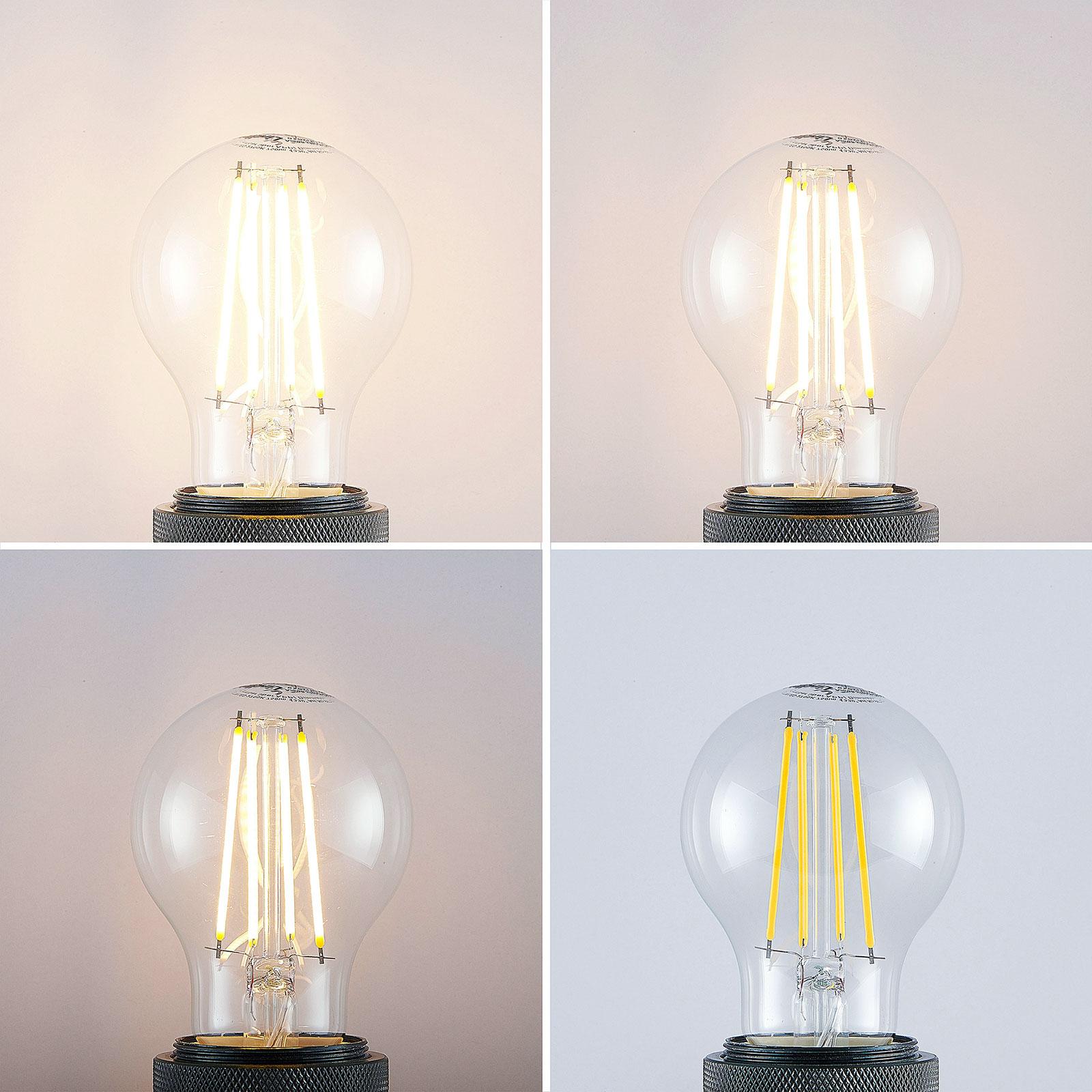 E27 LED-pære Wifi 7W varmhvit filament klar