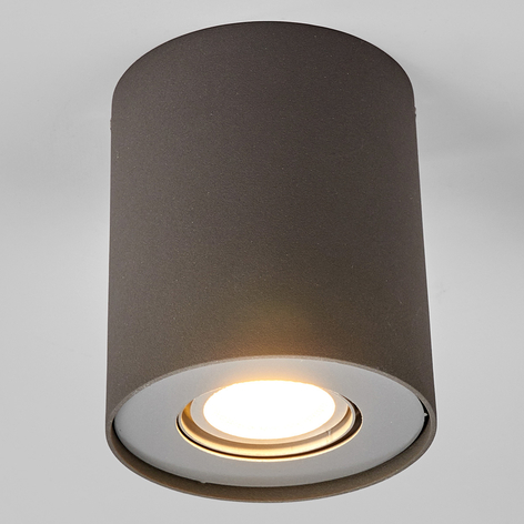 LED downlight GU10 Giliano, 1zdroj, kulaté, grafit