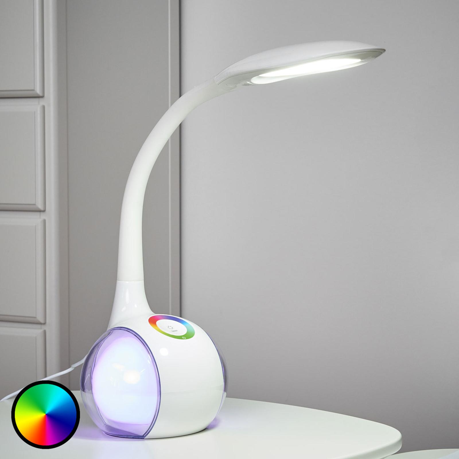 Flexibilná stolná LED lampa Paula, biela_4014585_1