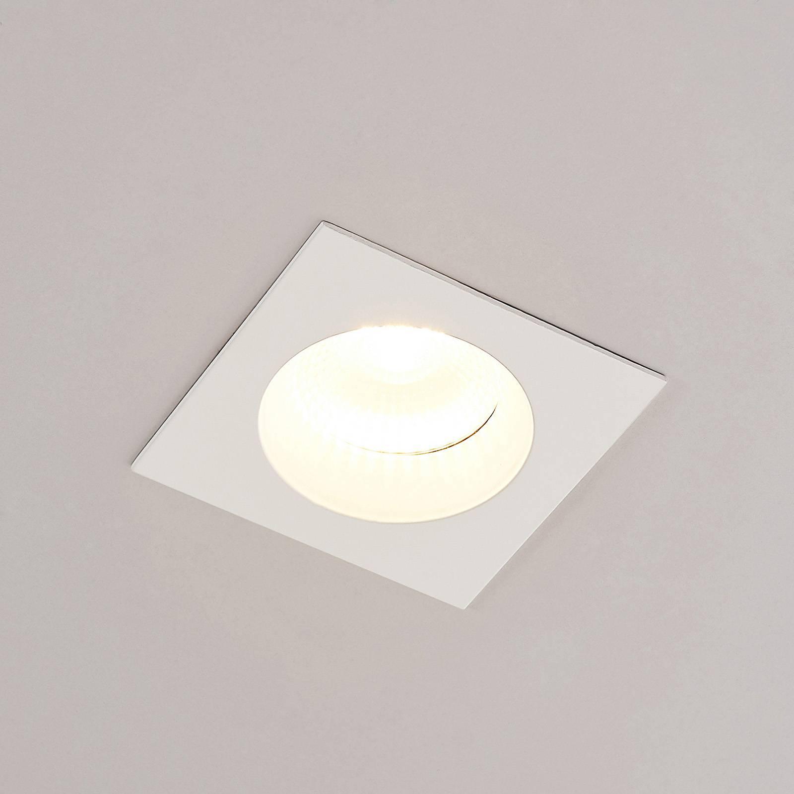 Arcchio Urdin LED inbouwspot hoekig IP65, 10,6W
