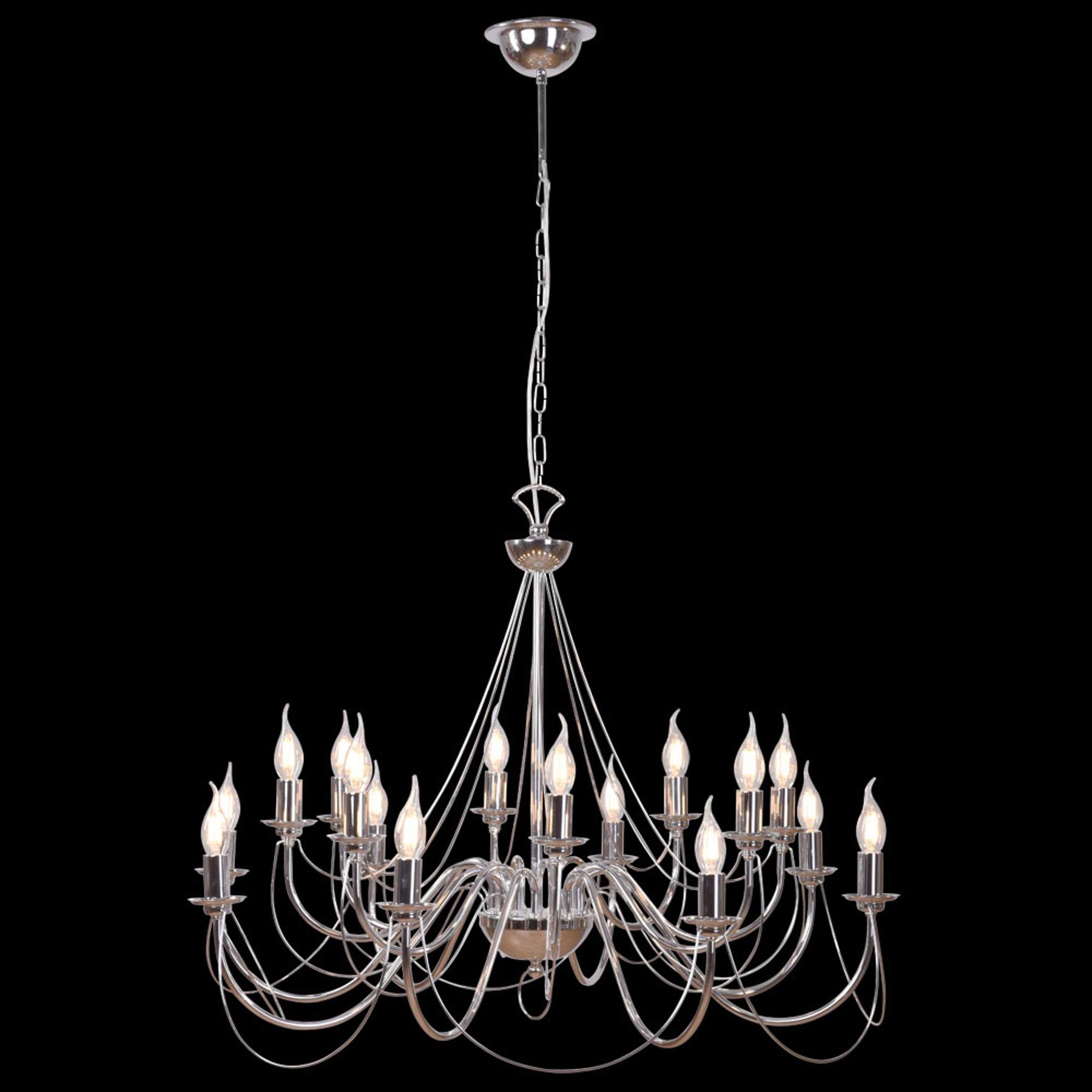 Kroonluchter Retro, 16-lamps, chroom