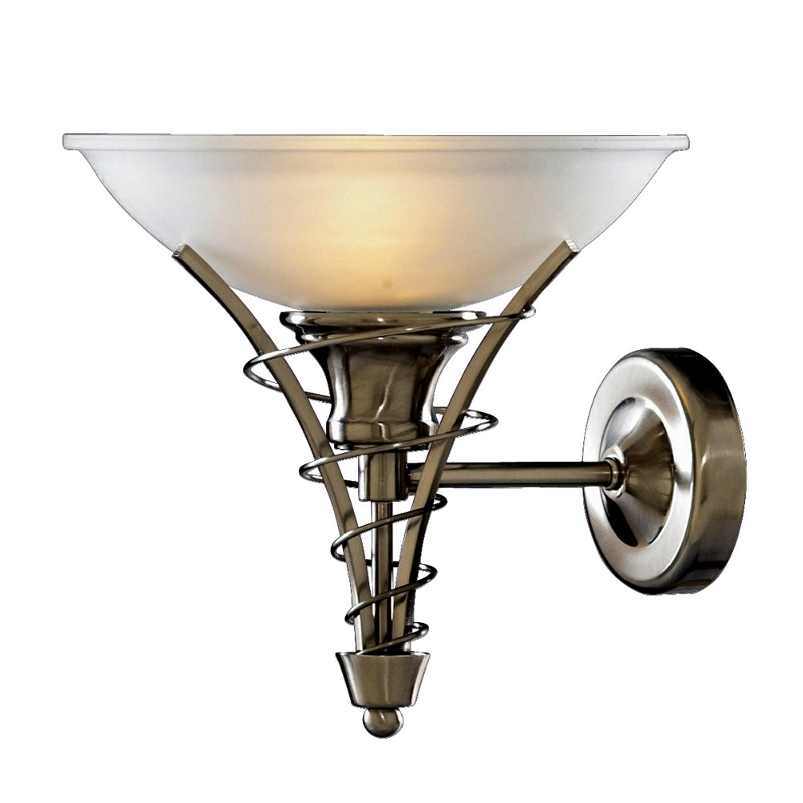 Tijdloze wandlamp LINEAS, mat zilver