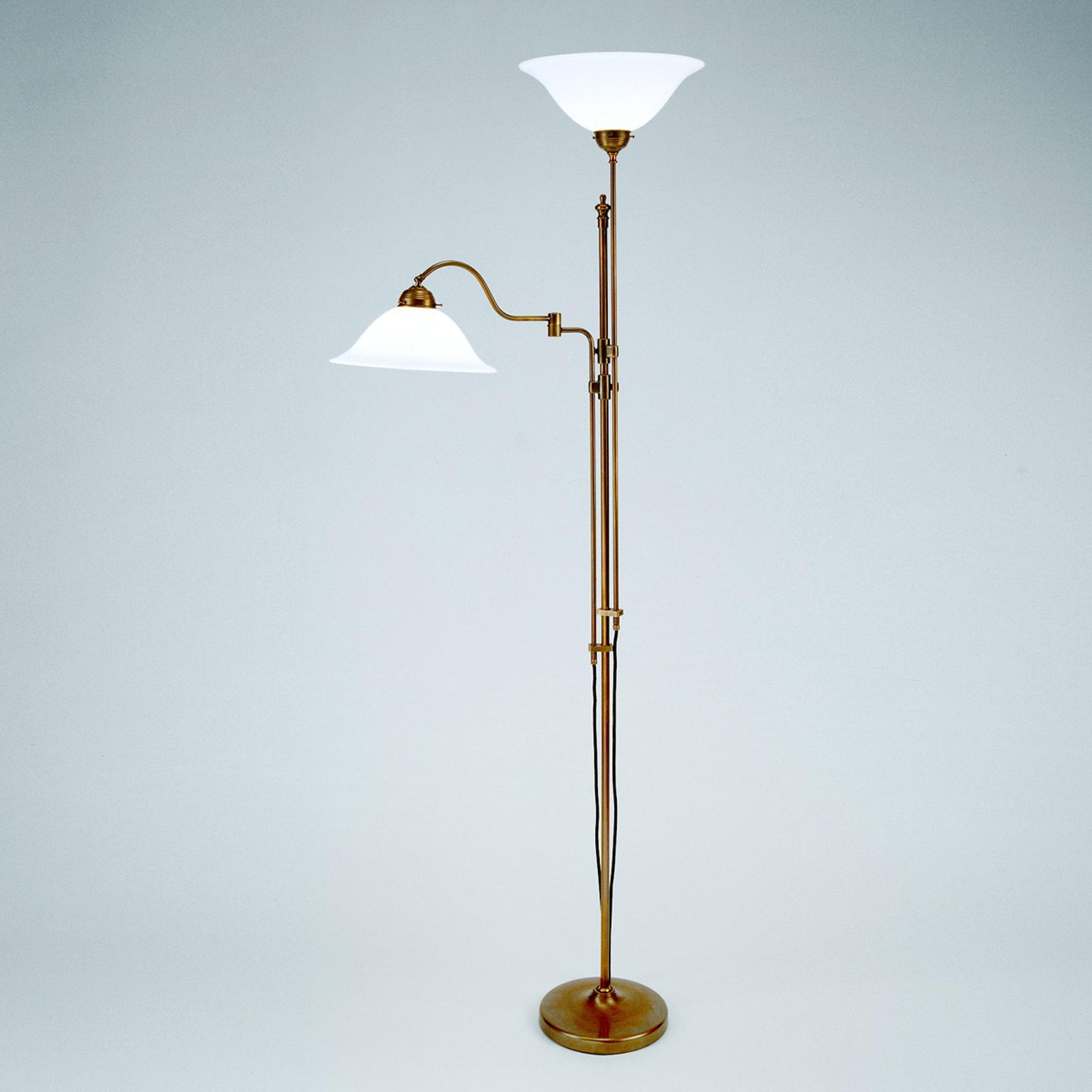Lámpara de pie de 2 luces Gustav