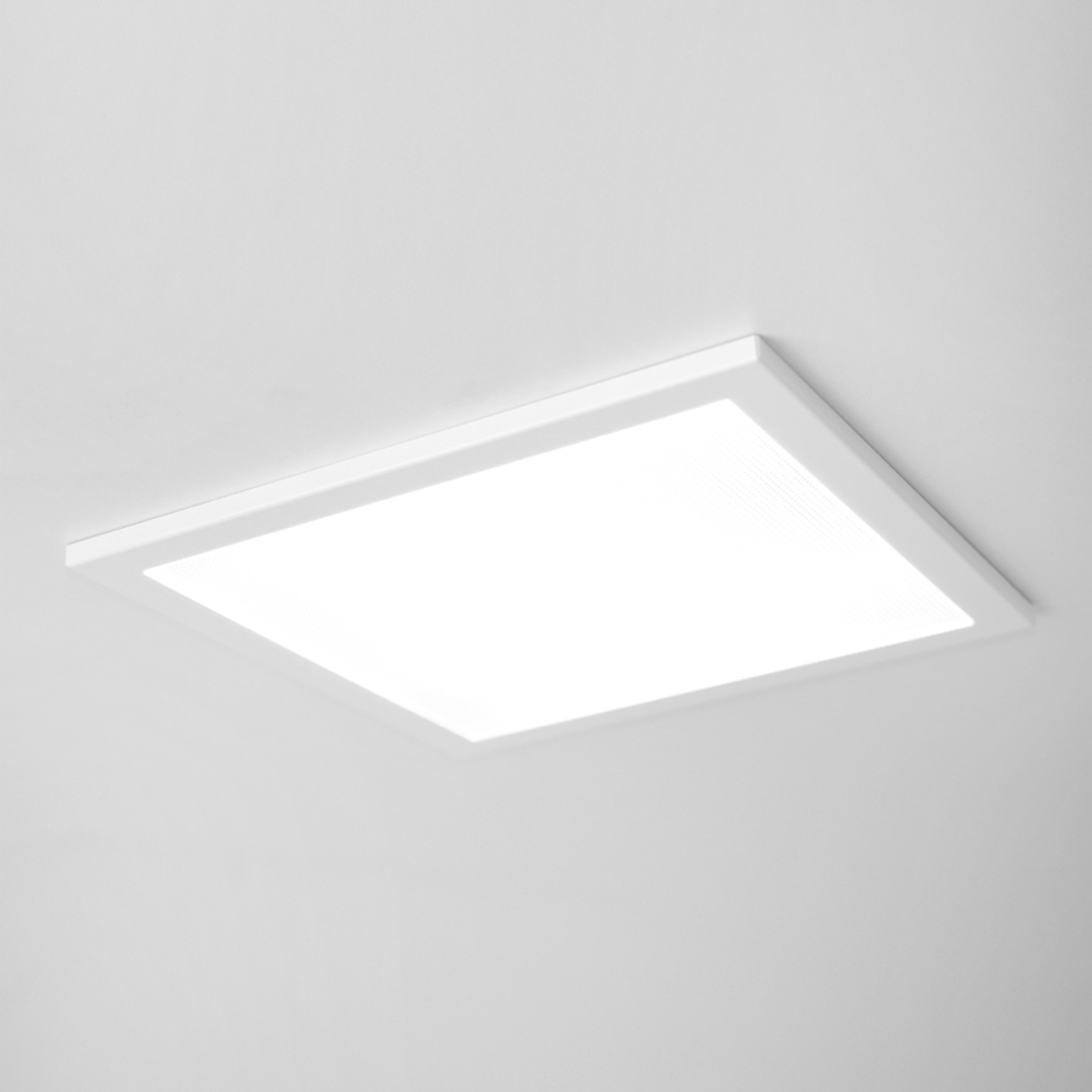 Plafonnier encastrable LED SUN 9, plat blanc 4 k