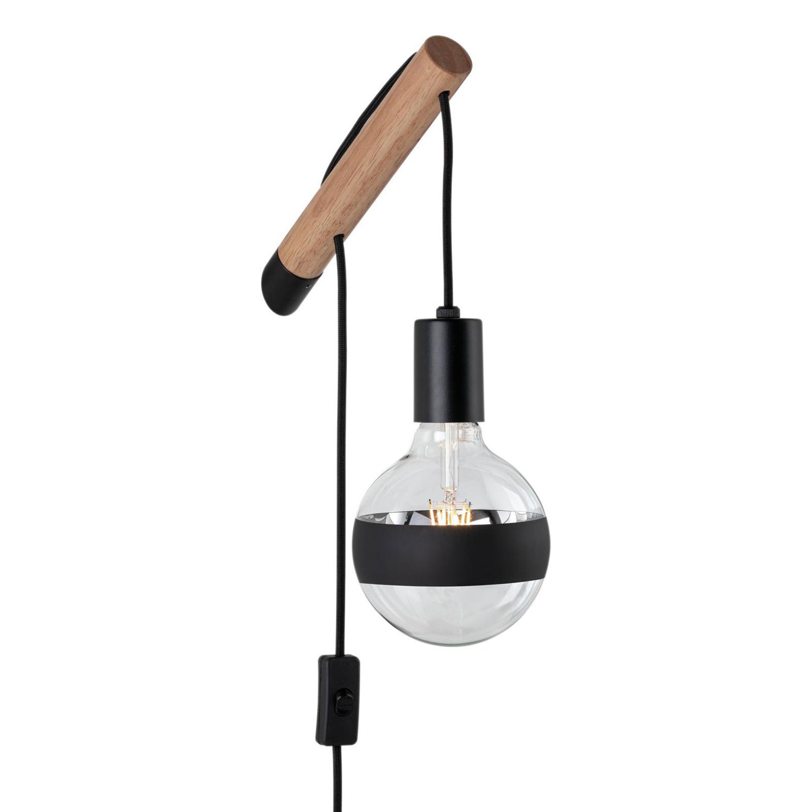 Paulmann Kian wandlamp van hout en metaal