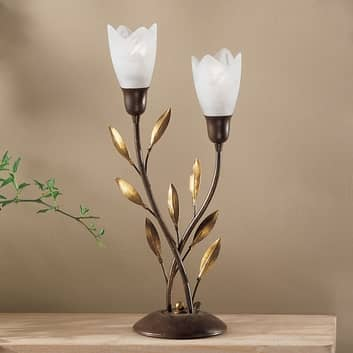Blomsterformet CAMPANA bordlampe