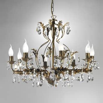 Ljuskrona Teresa med kristaller, 8 lampor