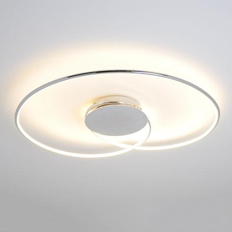 LED stropní svítidlo Joline, chrom, 74 cm