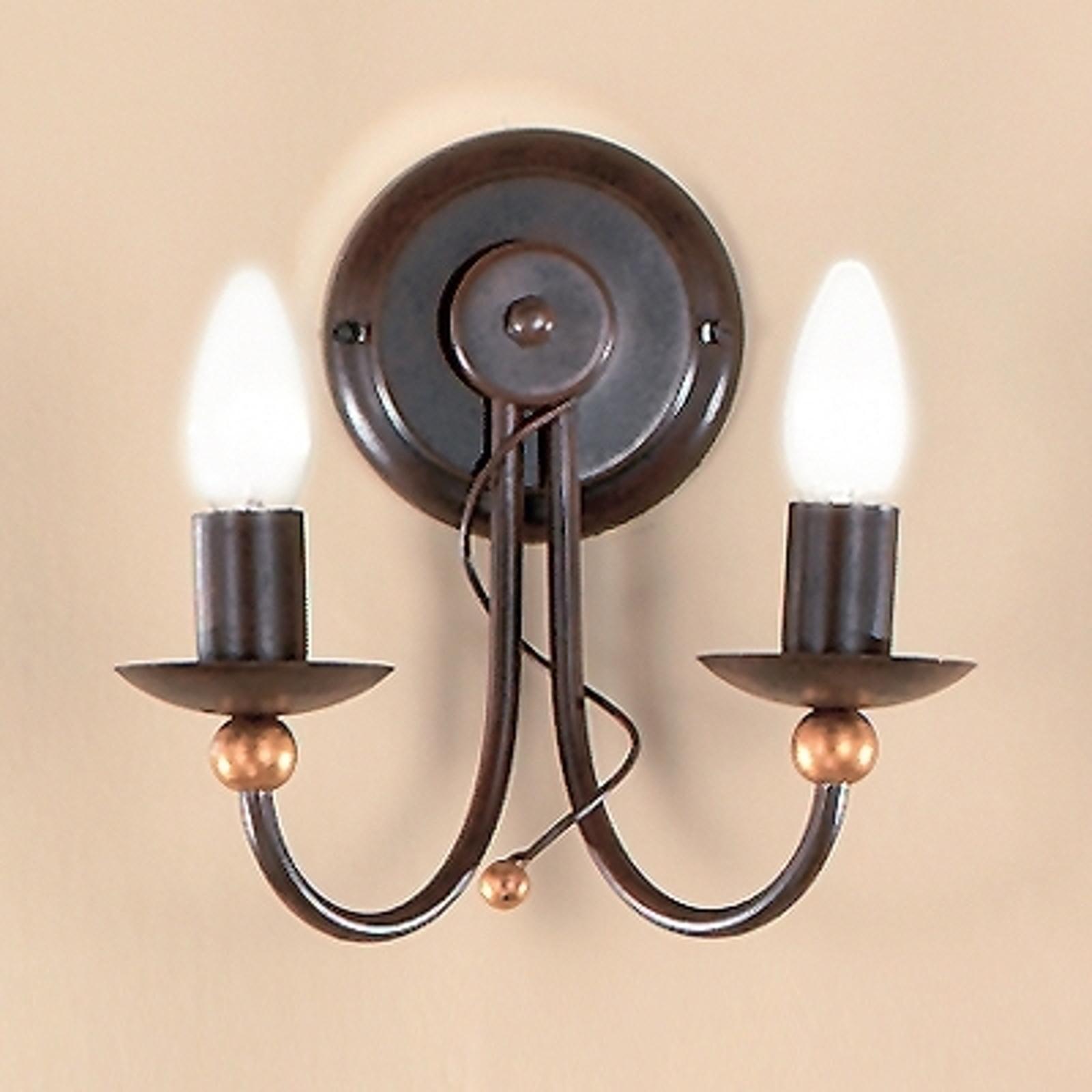 2-lichts wandlamp GARDA in landhuisstijl