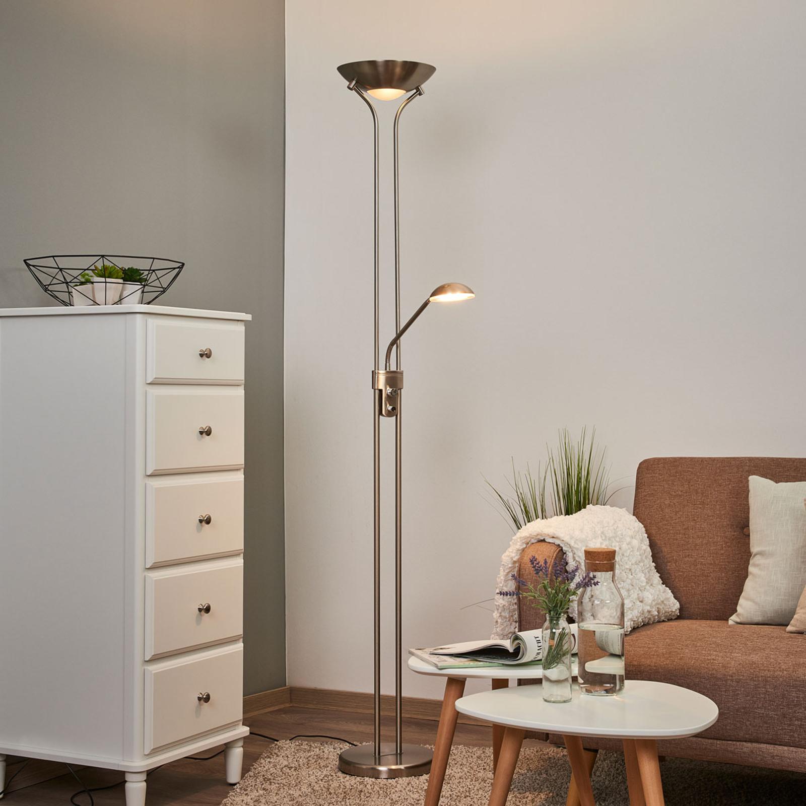 LED-drevet uplight Josefin med leselys
