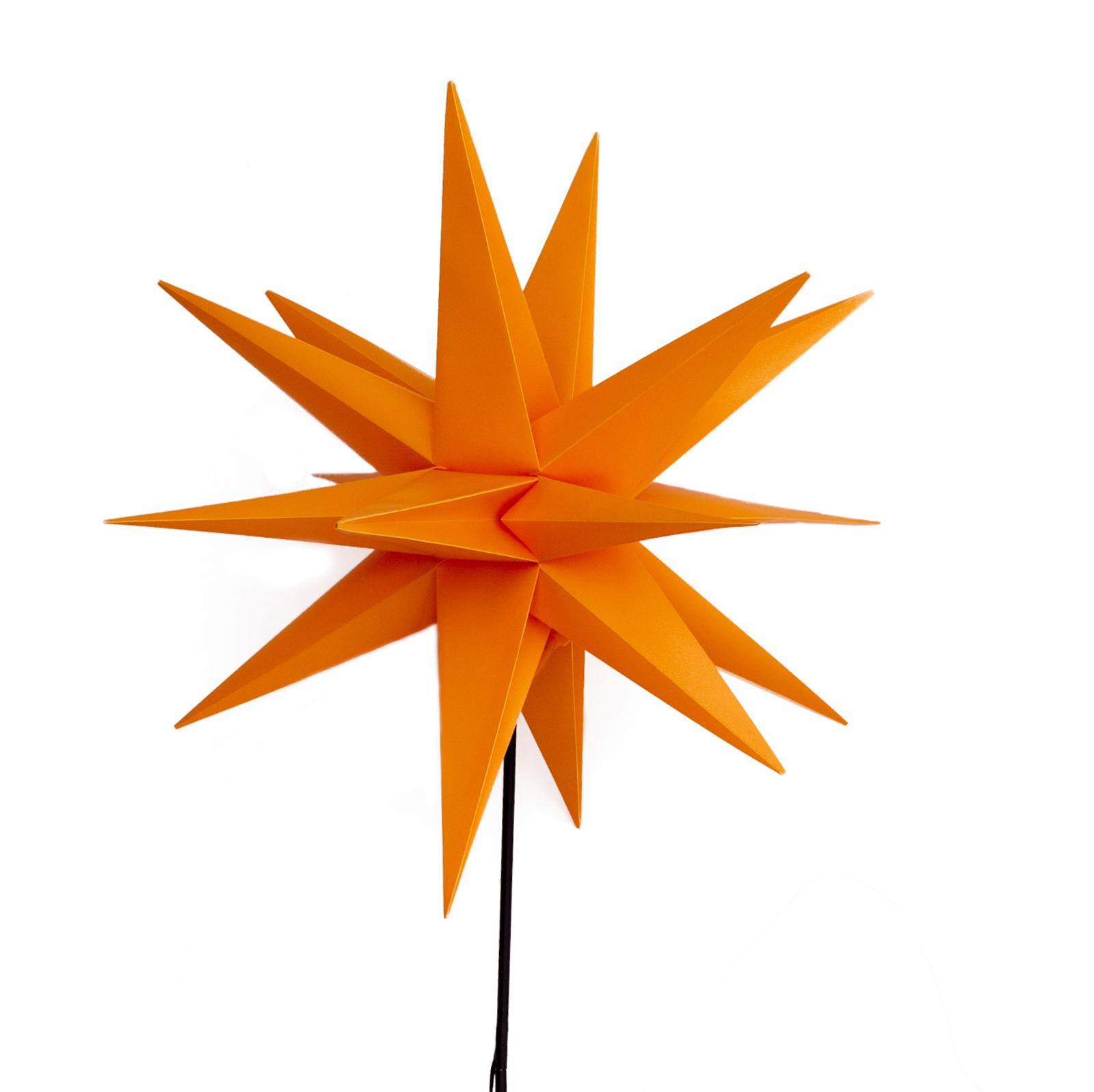 LED-Stern für außen, mit Erdspieß, Ø 55 cm, gelb