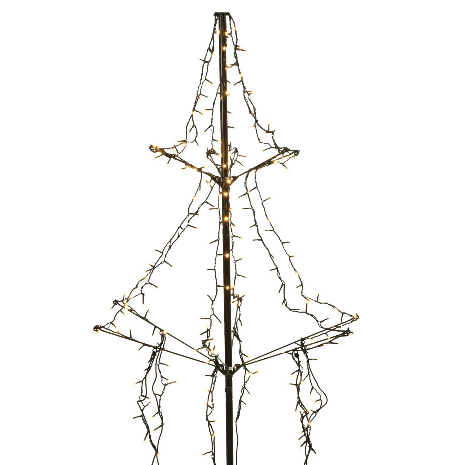 Arbre LED avec piquet, 2 étages, 240 lampes 135cm