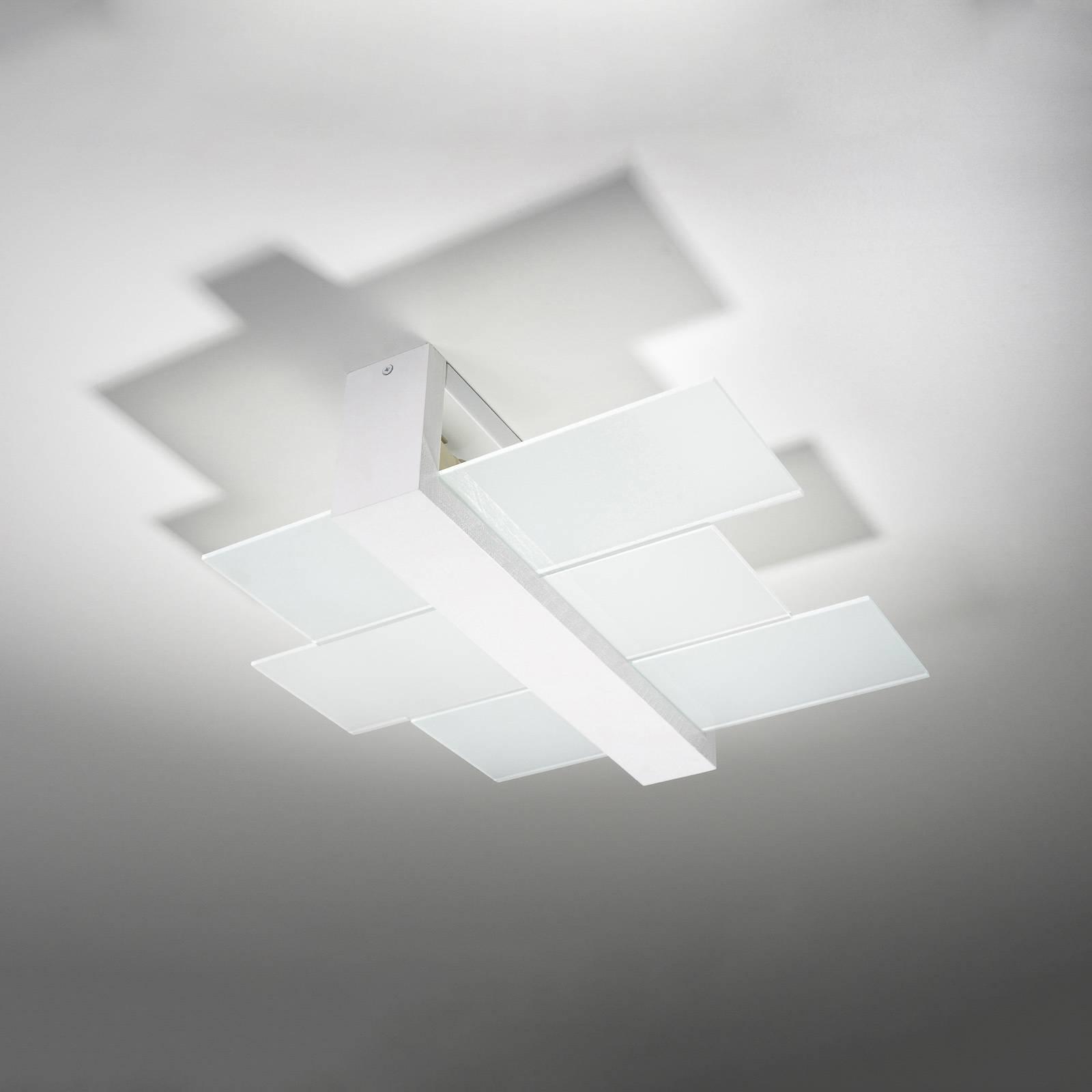 Lampa sufitowa Shifted 2, szkło, biała