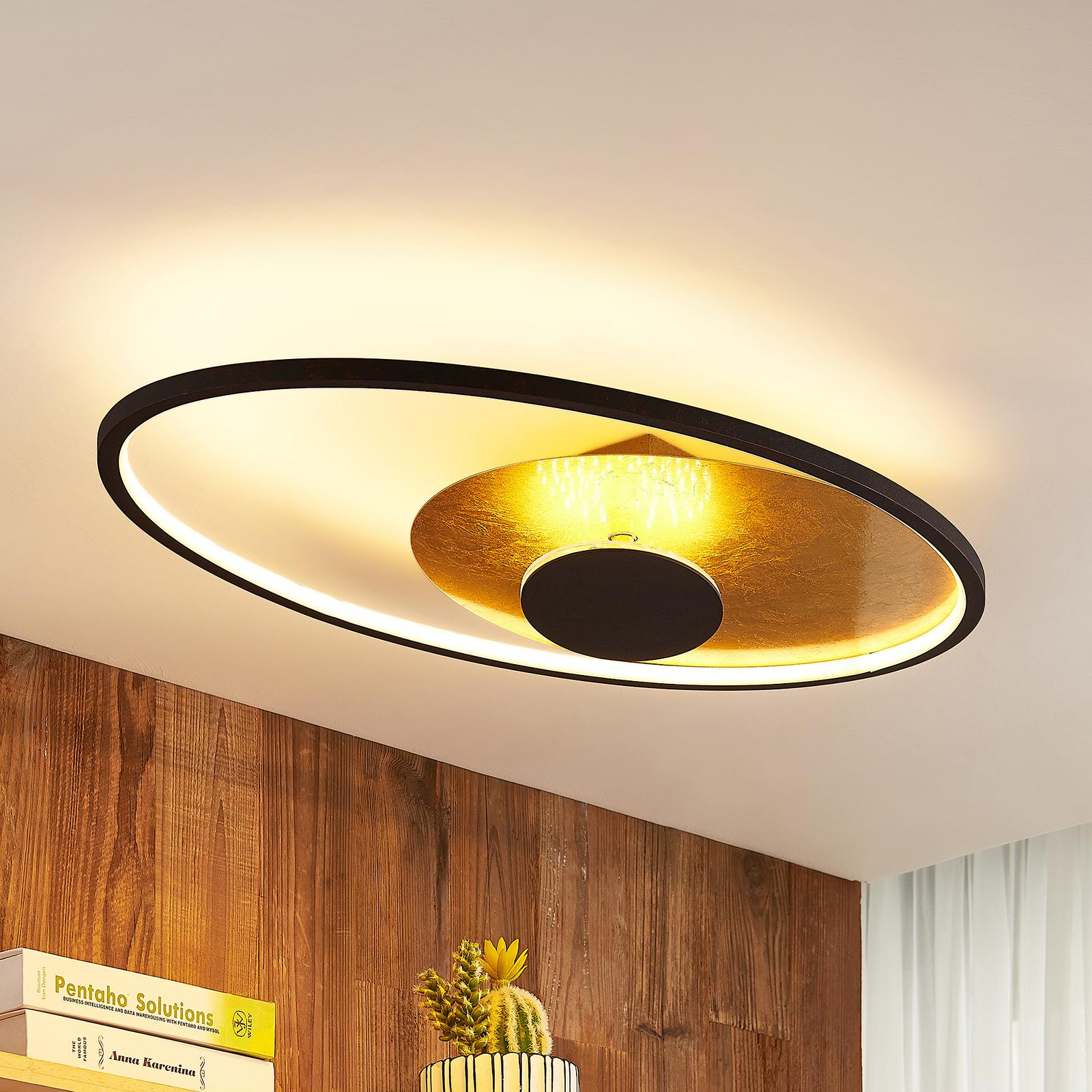 Lindby Feival LED-taklampe, 73 cm x 43 cm