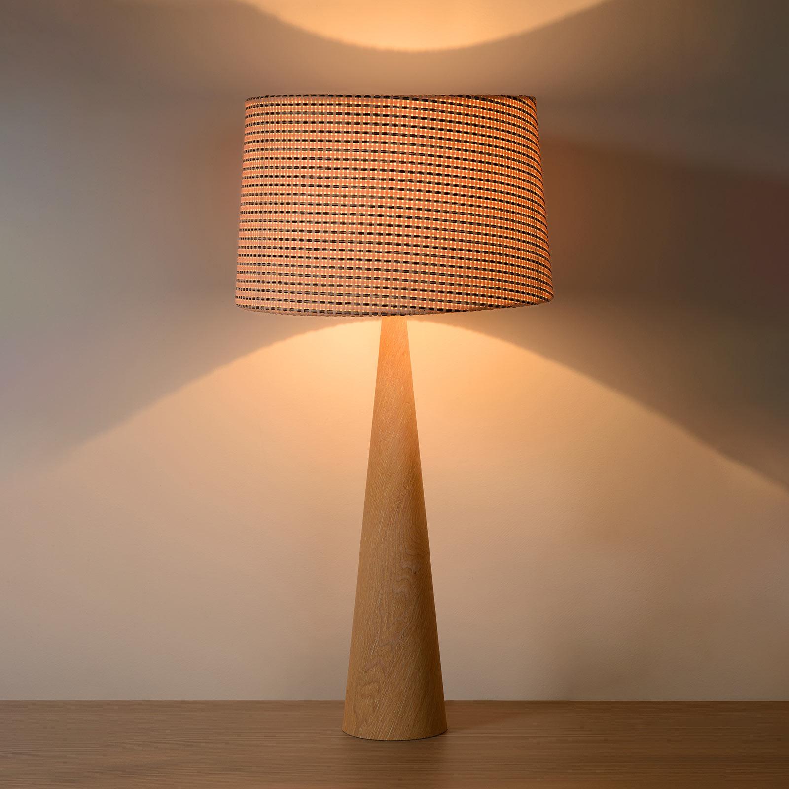 Tafellamp Conos met lichte houten voet