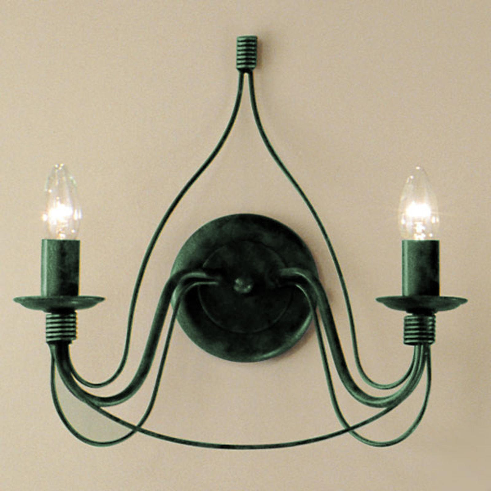 Vägglampa FILO 2-armad, grön antik