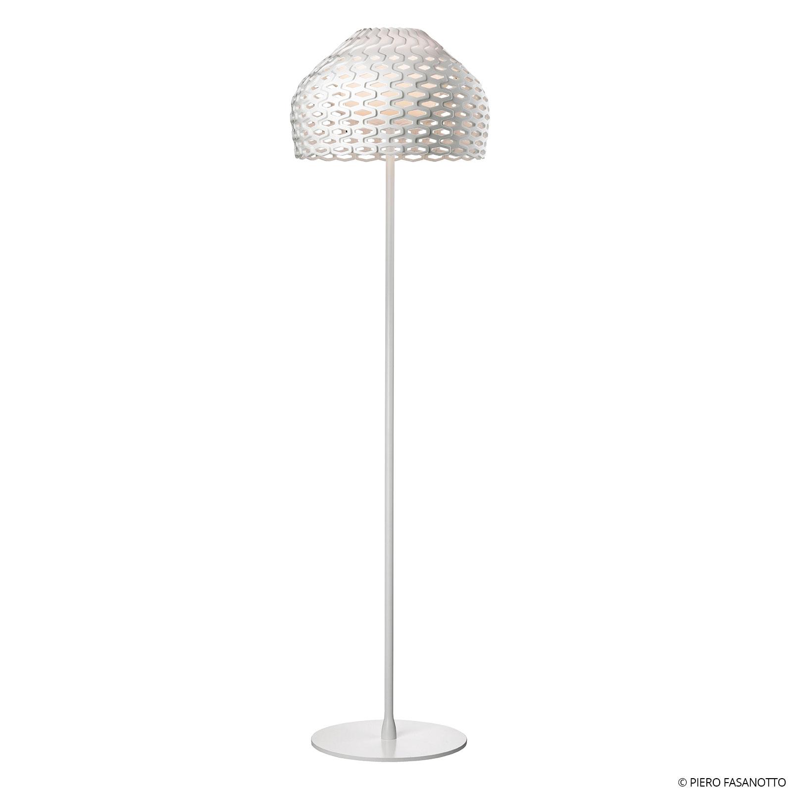 FLOS Tatou F lampadaire avec variateur, blanc