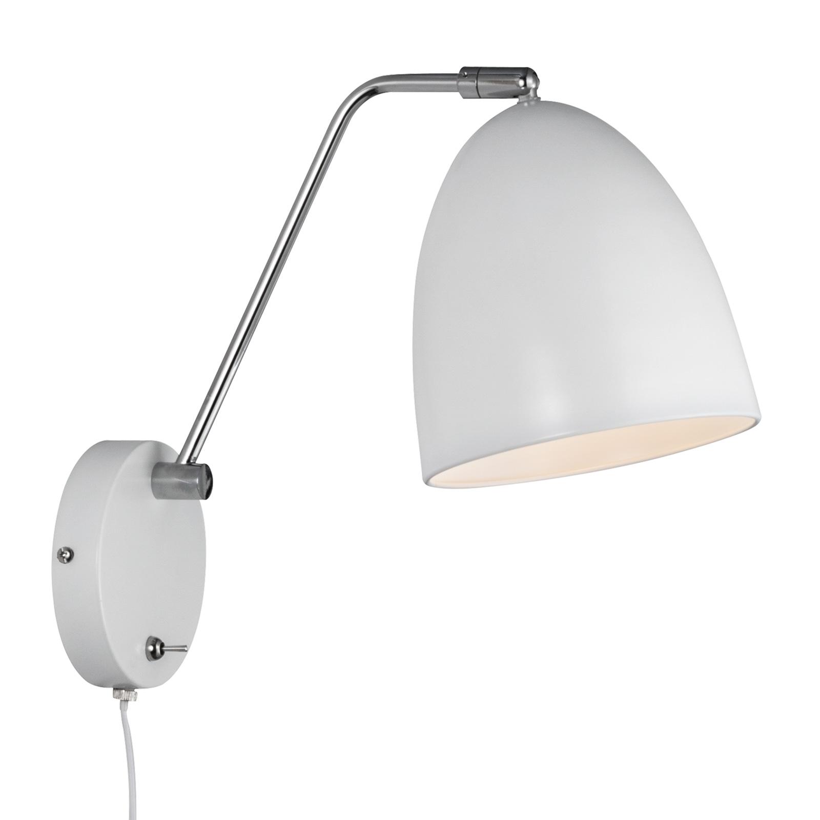 Wandlamp Alexander met kabel en stekker, wit