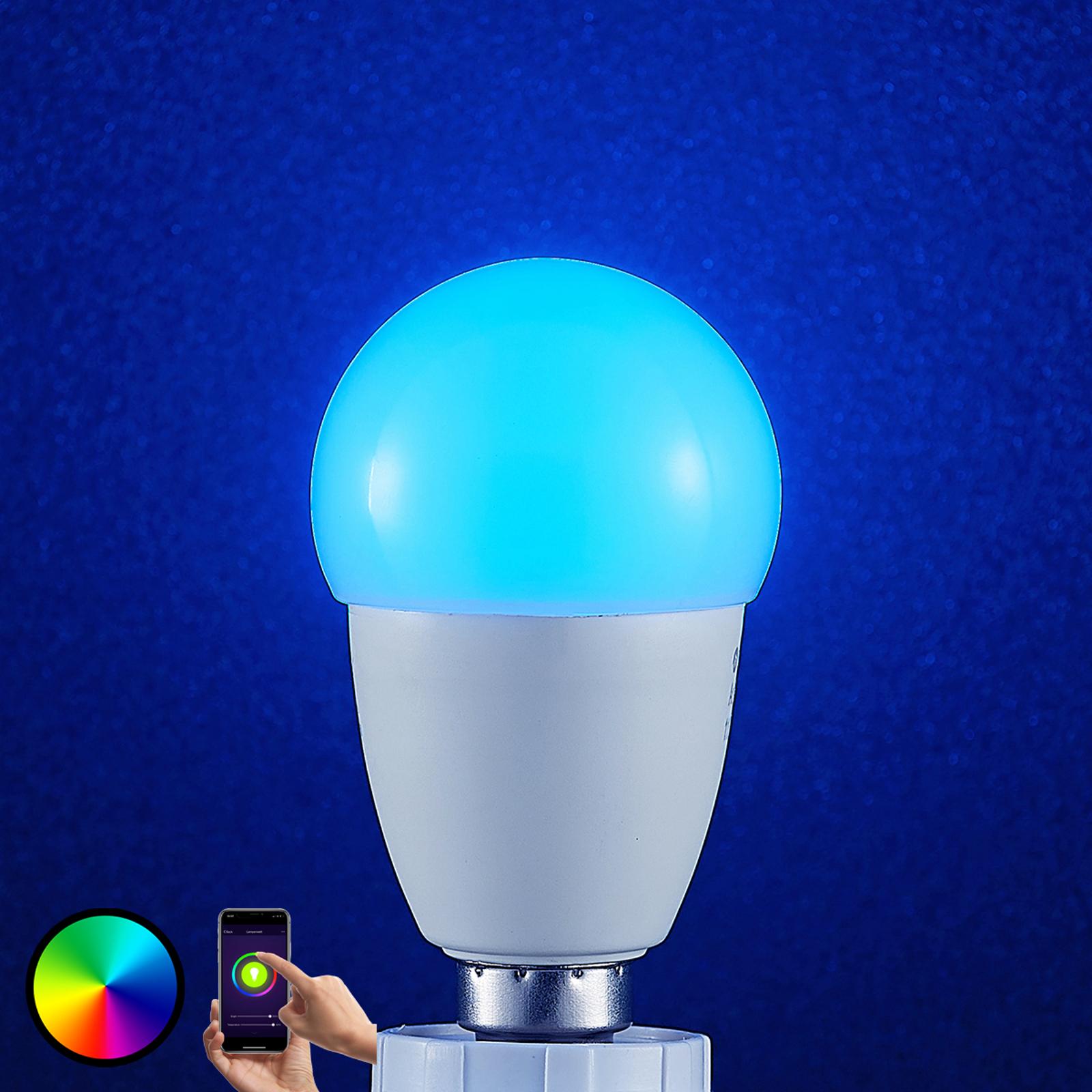 Lindby Smart LED-Lampe Wifi E14 4,5 W, RGB Tropfen