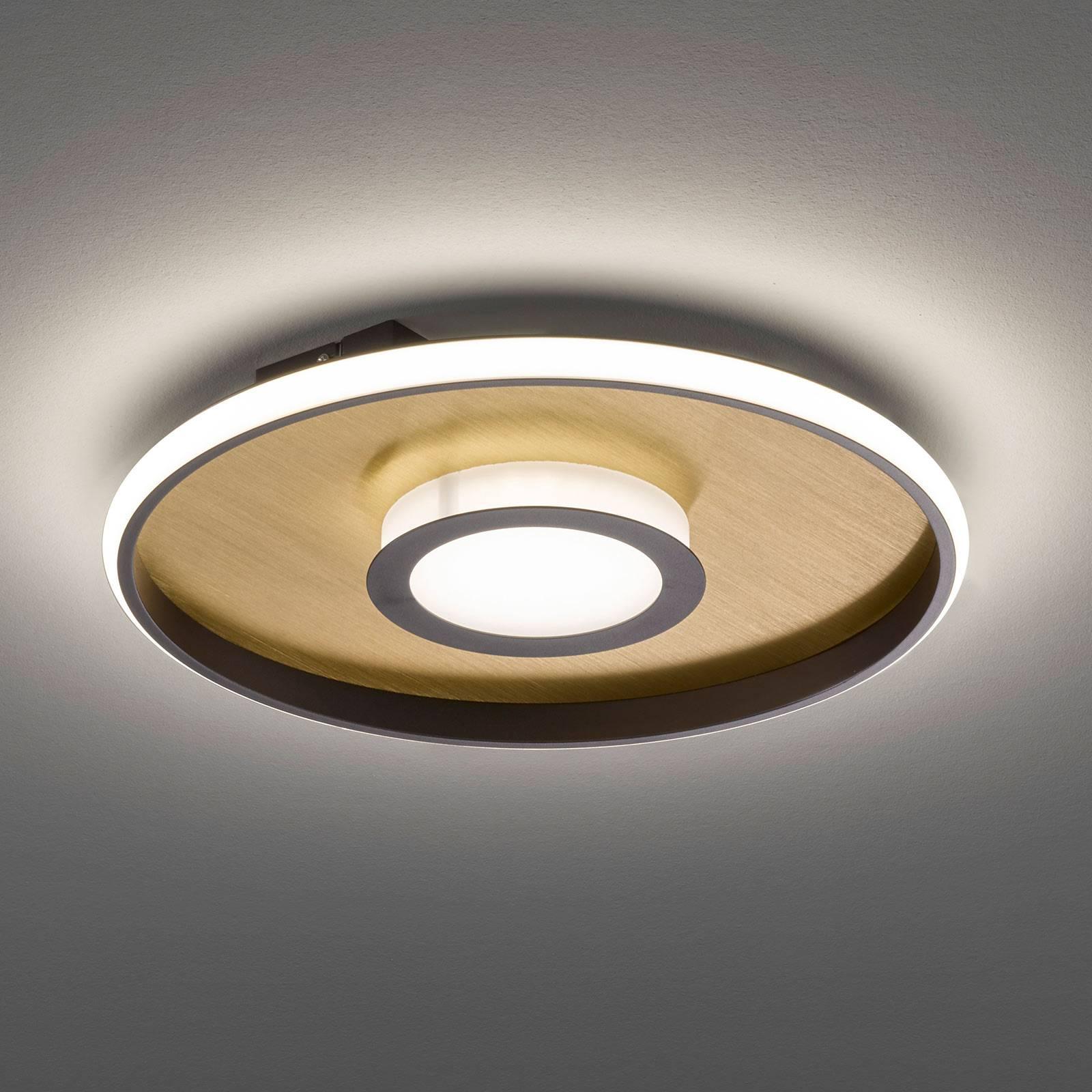 LED-Deckenleuchte Zoe, rund, gold-rost, 45cm