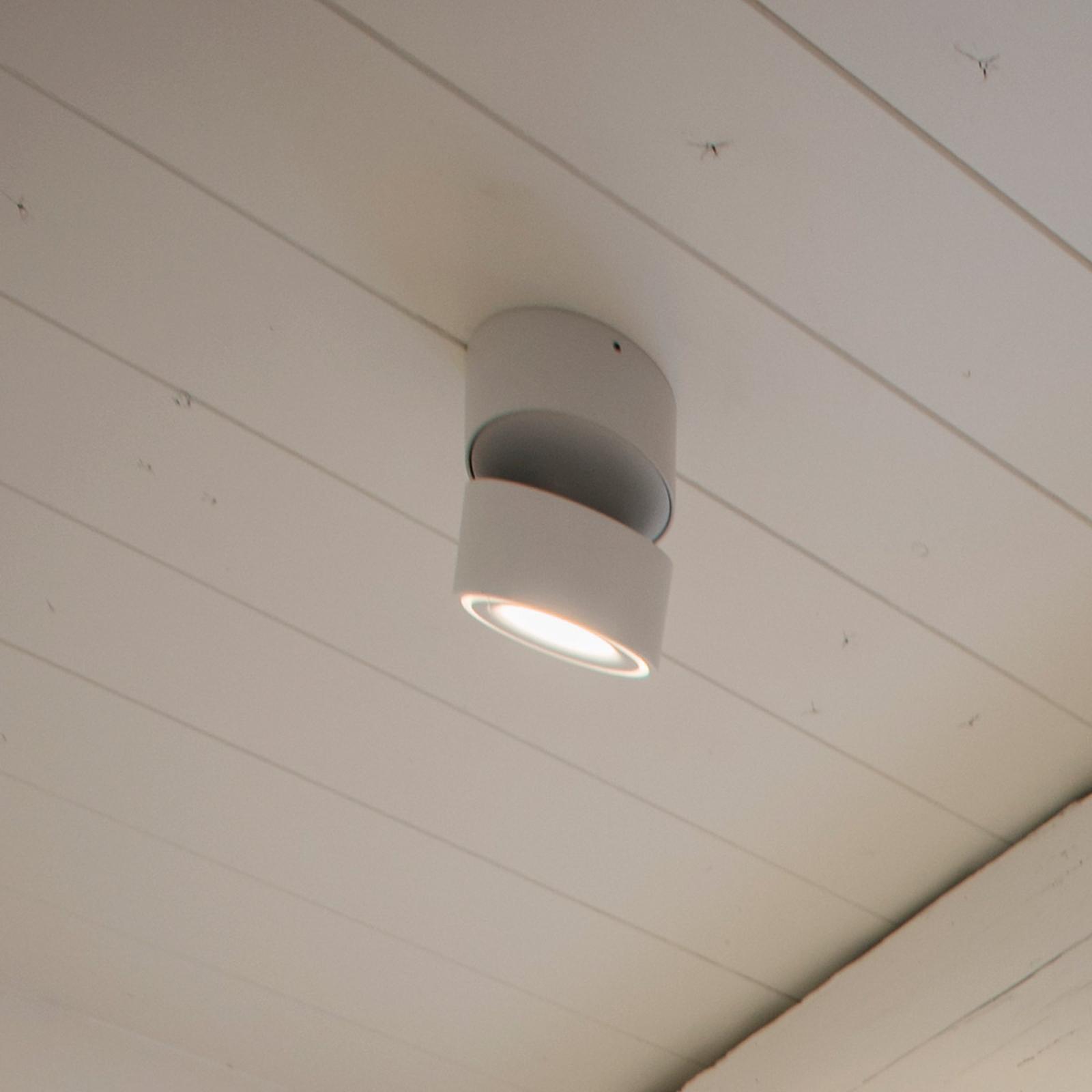 Egger Clippo LED-takspot dim-to-warm hvit