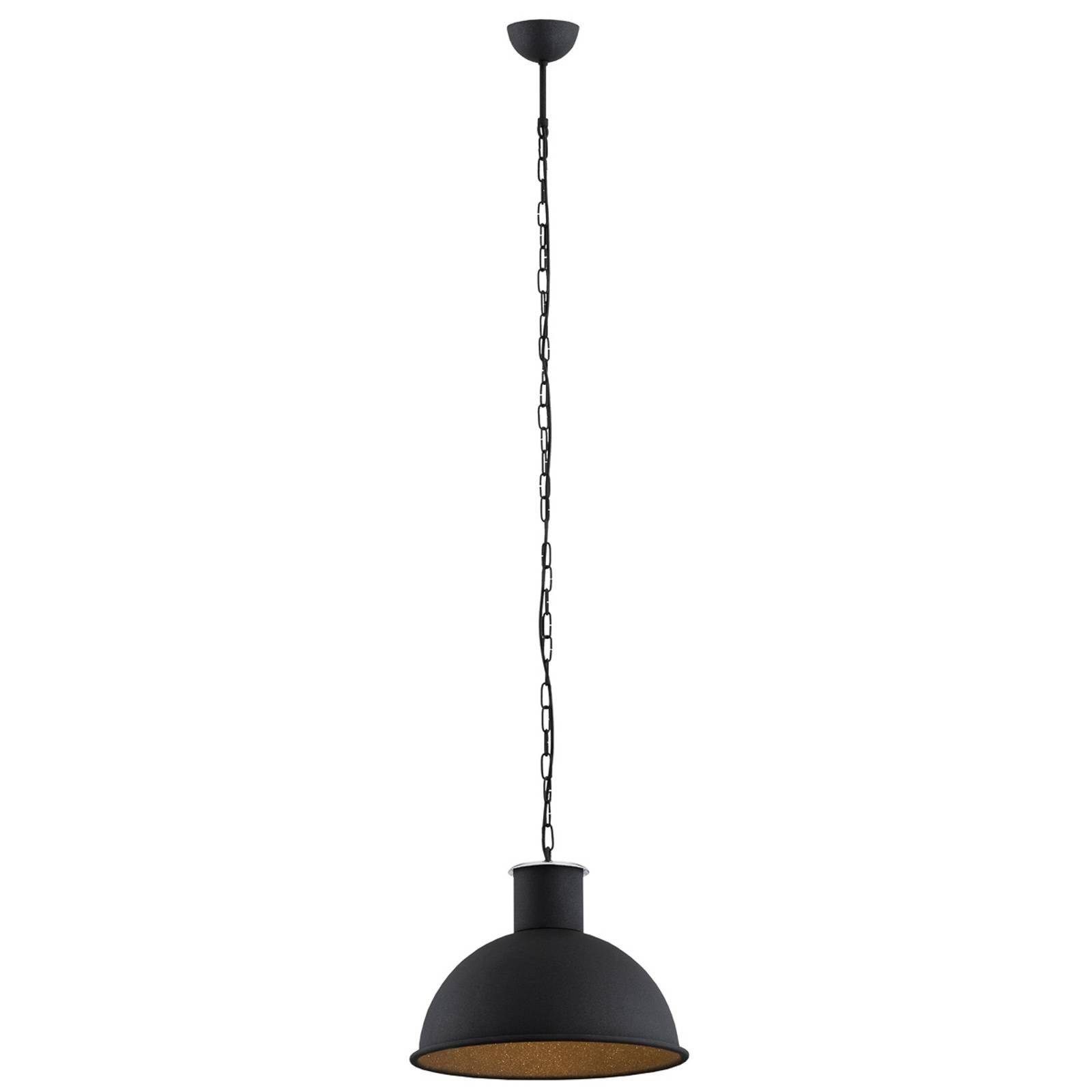 Suspension Emoti à 1 lampe, noire