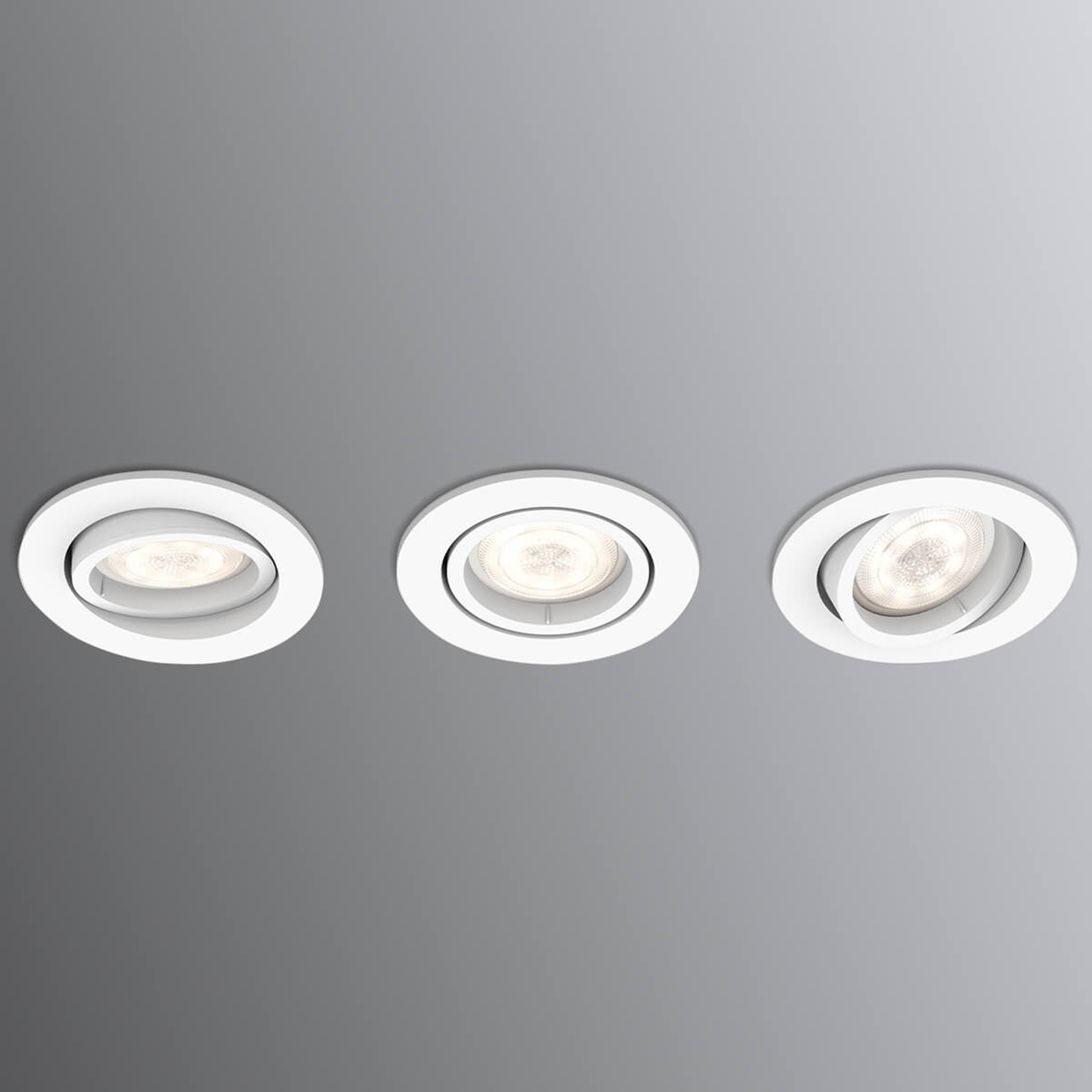 LED indbygningsspot Shellbark WarmGlow 3'er
