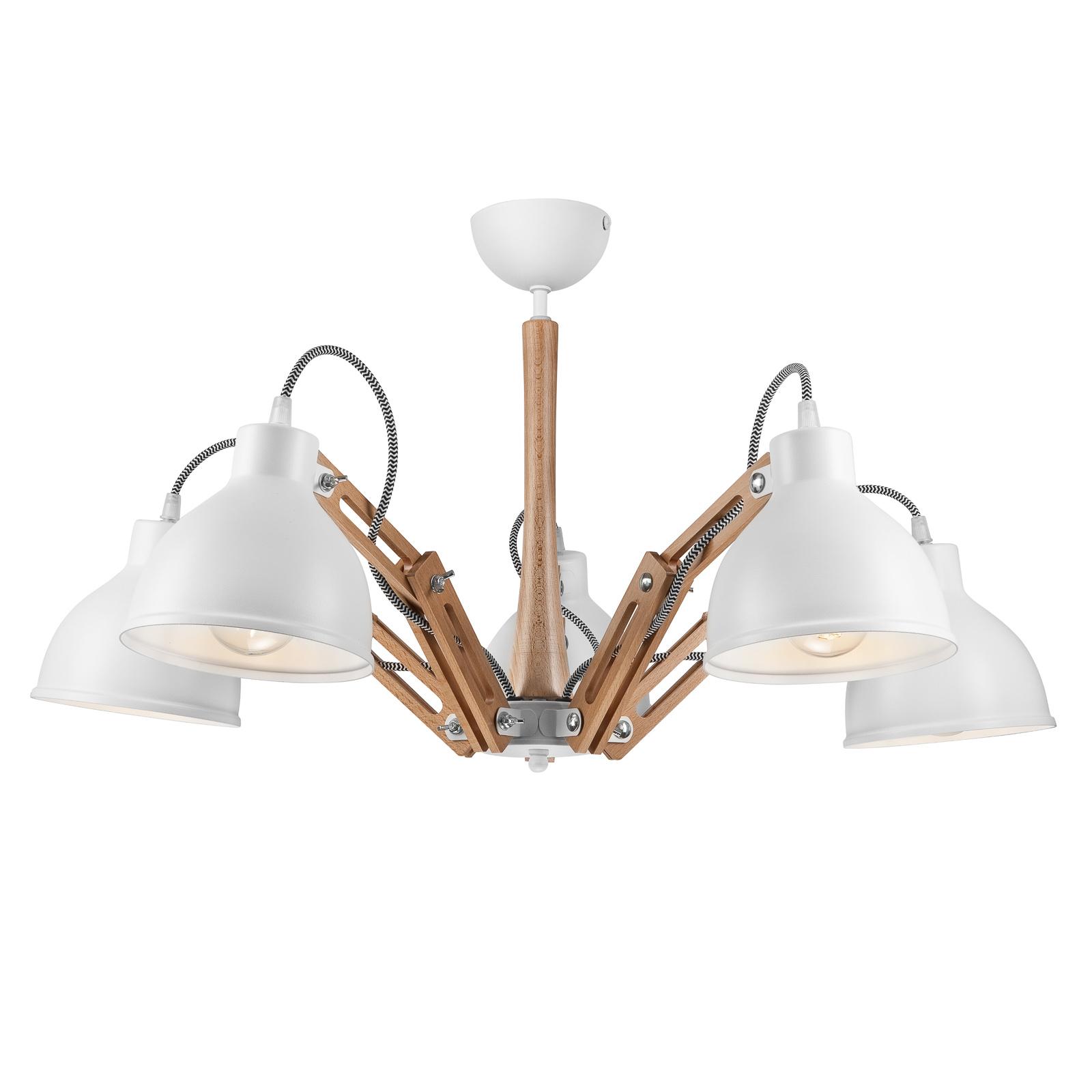 Skansen loftlampe, 5 lyskilder, justerbar, hvid