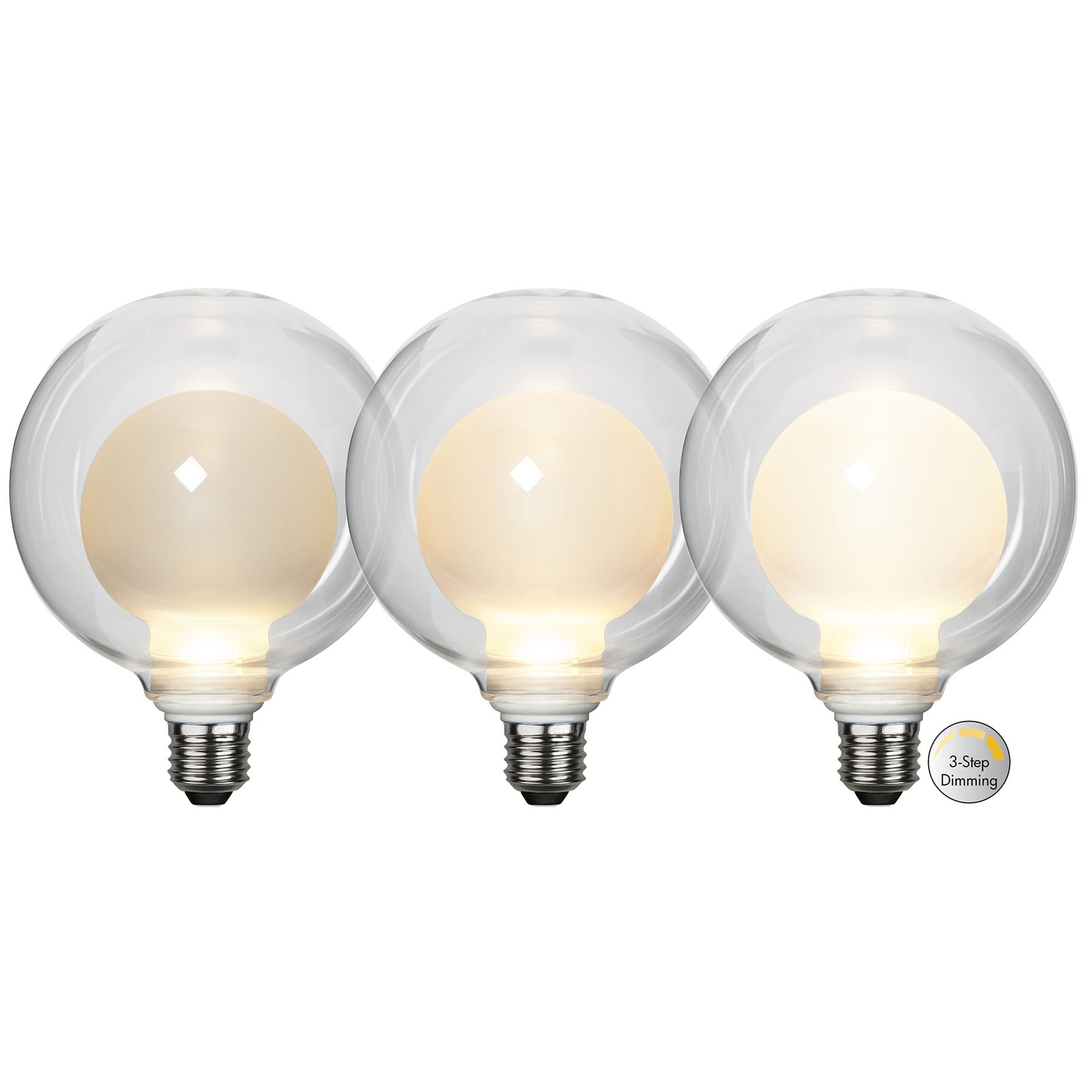 LED-Lampe Space E27 3,5W D125, opal, 3-step dim