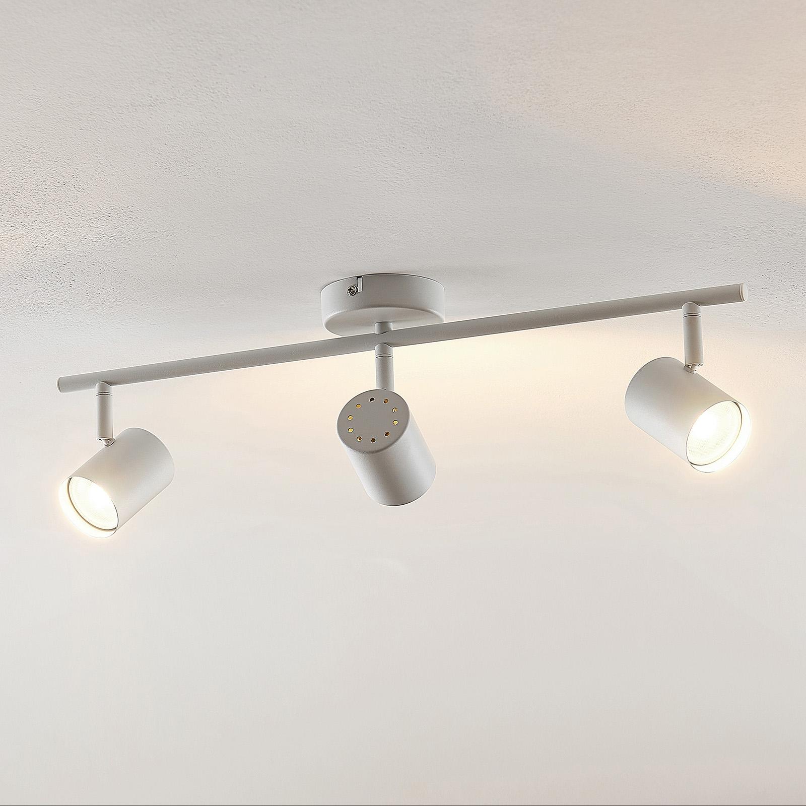 ELC Tomoki LED ceiling light, white, 3-bulb_9950862_1