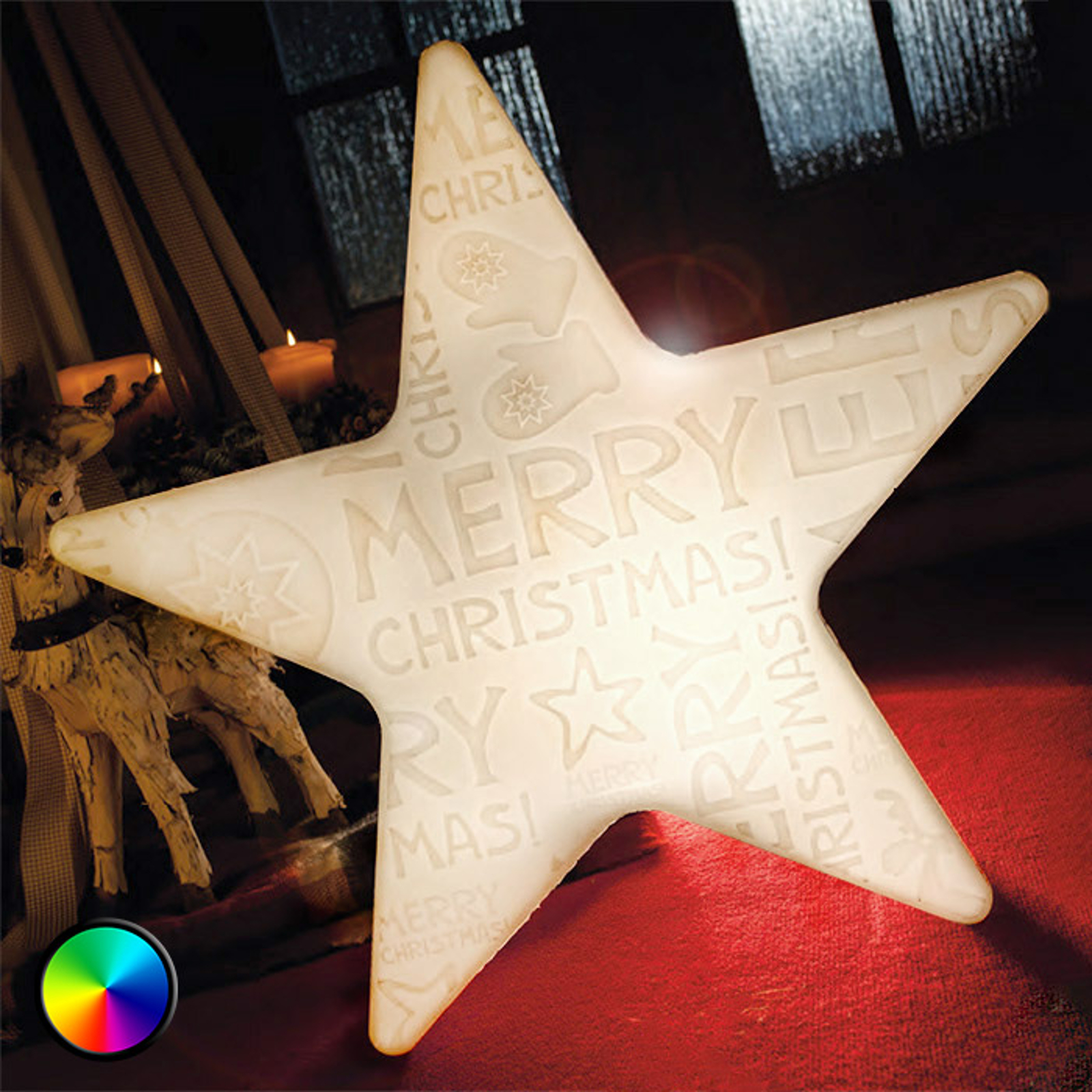 LED-ster Shining Star Merry Christmas
