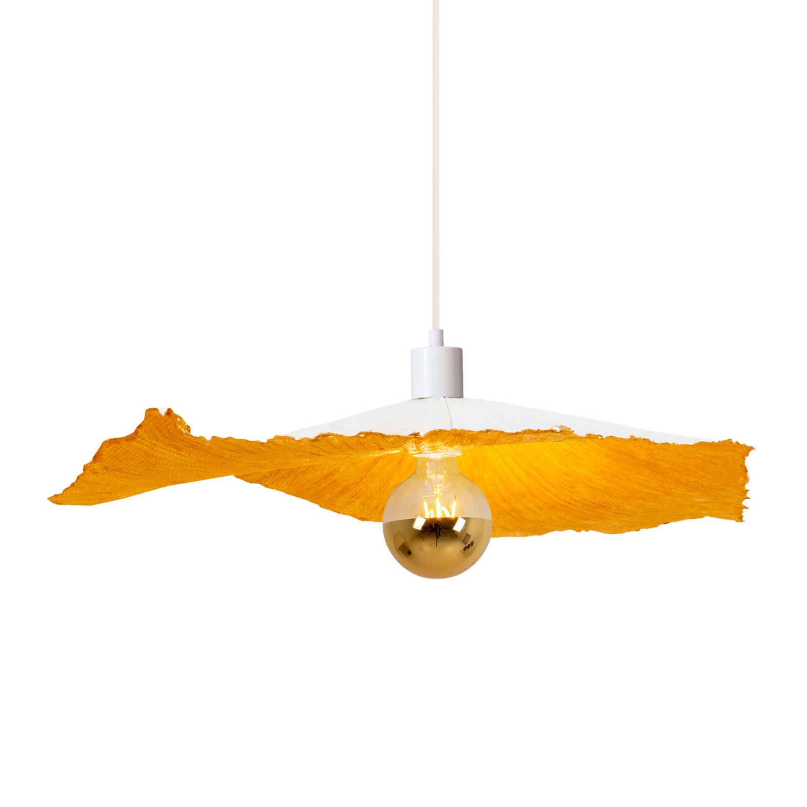 Závěsné světlo Crazy Paper, bílá-zlatá, Ø 56cm