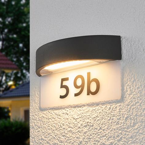 Husnummerlampe Alena med LED-lys