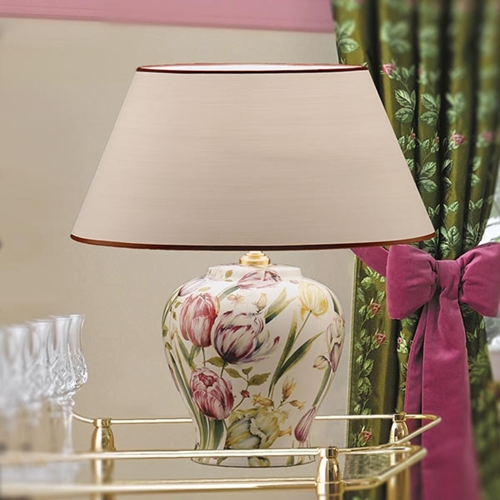 Lampa stołowa Living z kwiatowymi inspiracjami
