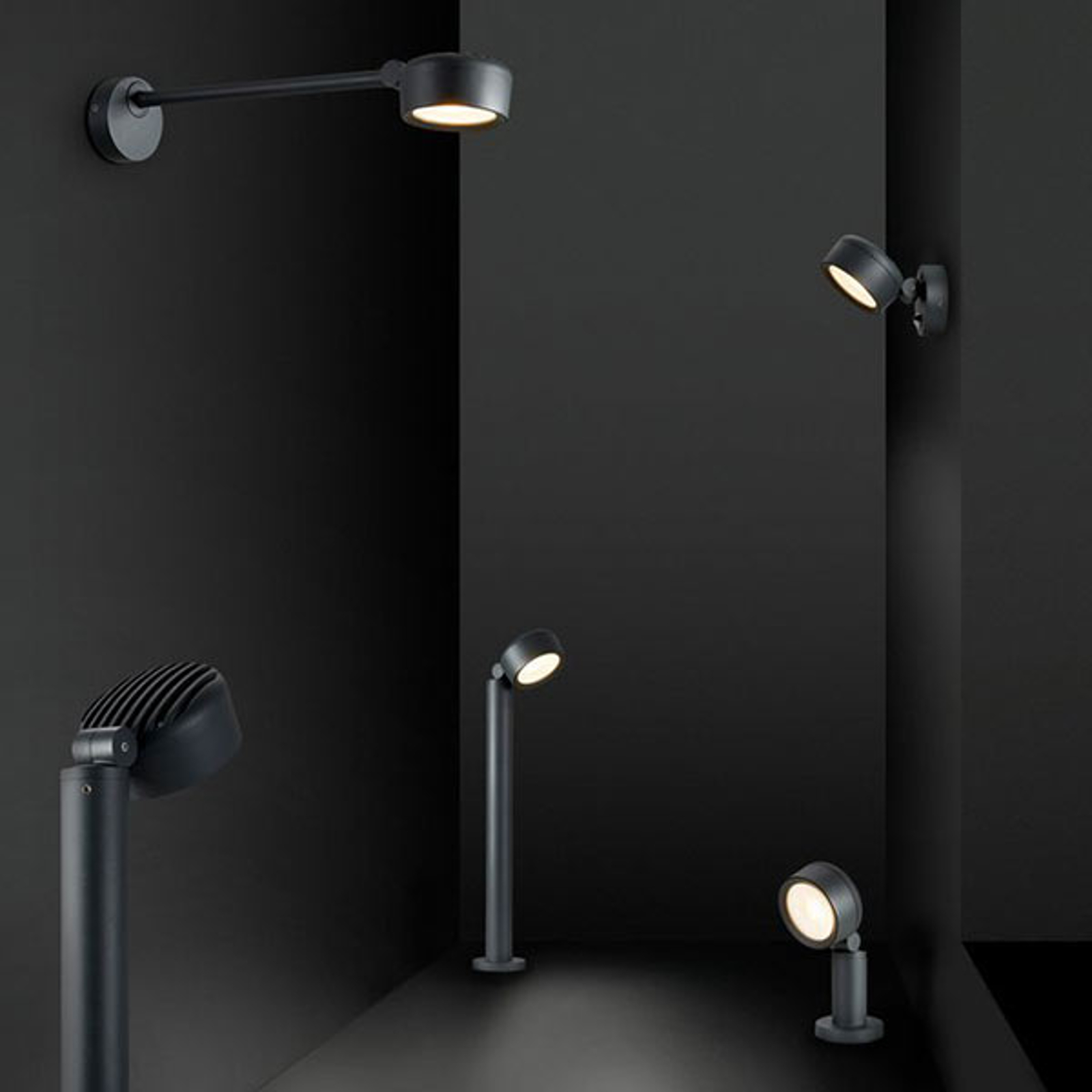 SLV Eskina D LED display-buitenwandlamp instelbaar