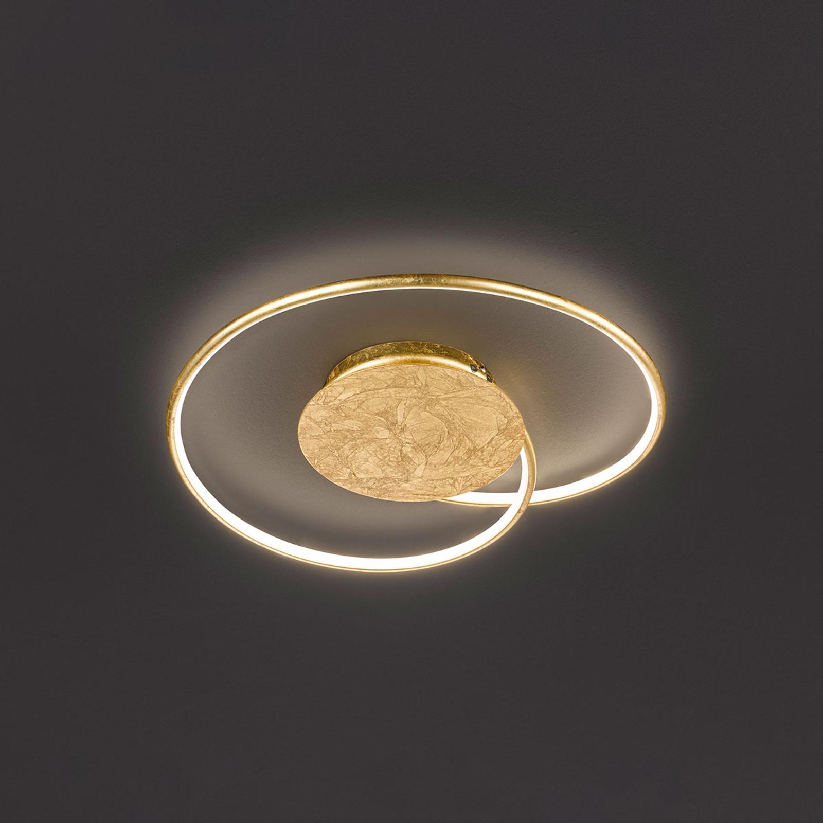LED plafondlamp Opus, goud, lengte 45 cm
