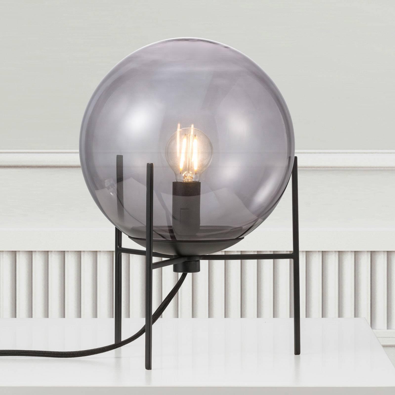 Billede af Alton bordlampe med røggrå glasskærm