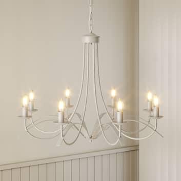 Lindby Amonja lampadario, 8 luci, bianco